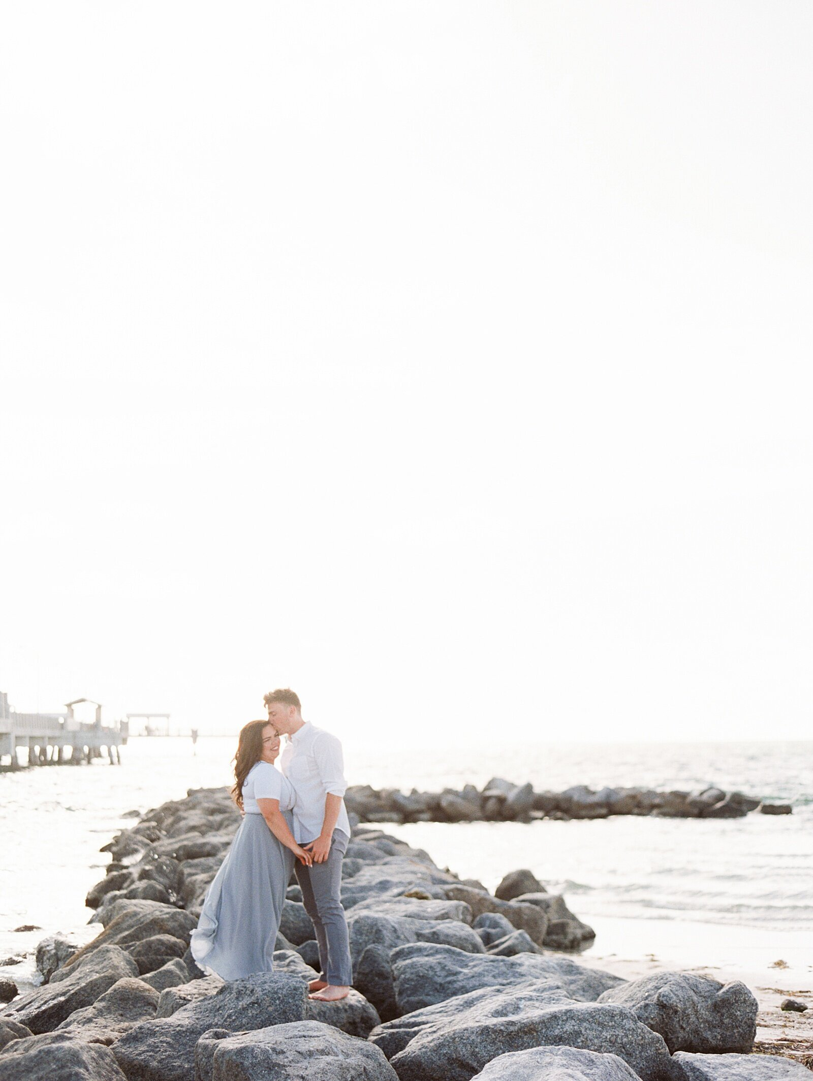 Beach Engagement Session in Floria as Seen In Wedding Sparrow with Sarah Sunstrom Photography_0001