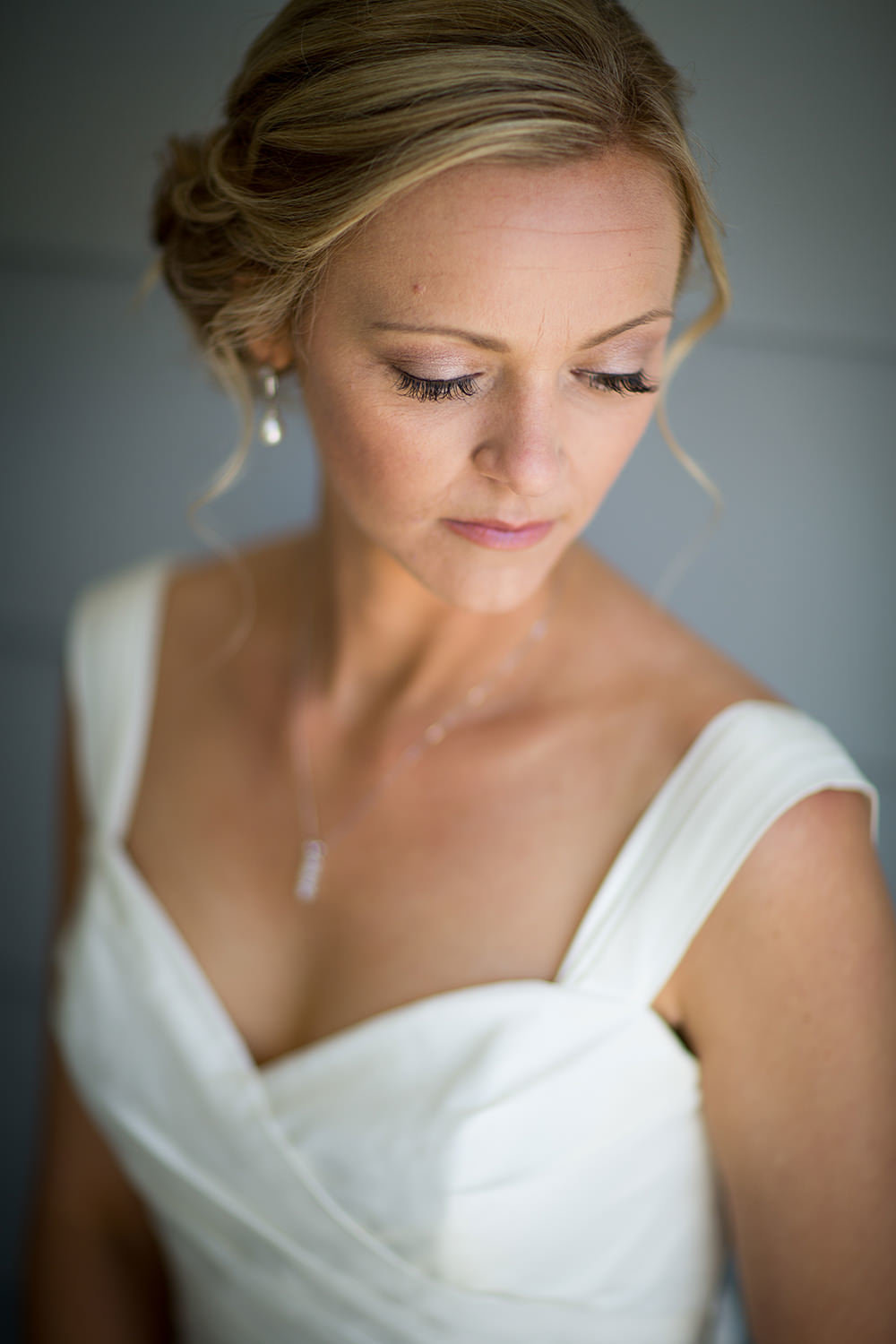 bride serious look eyelashes