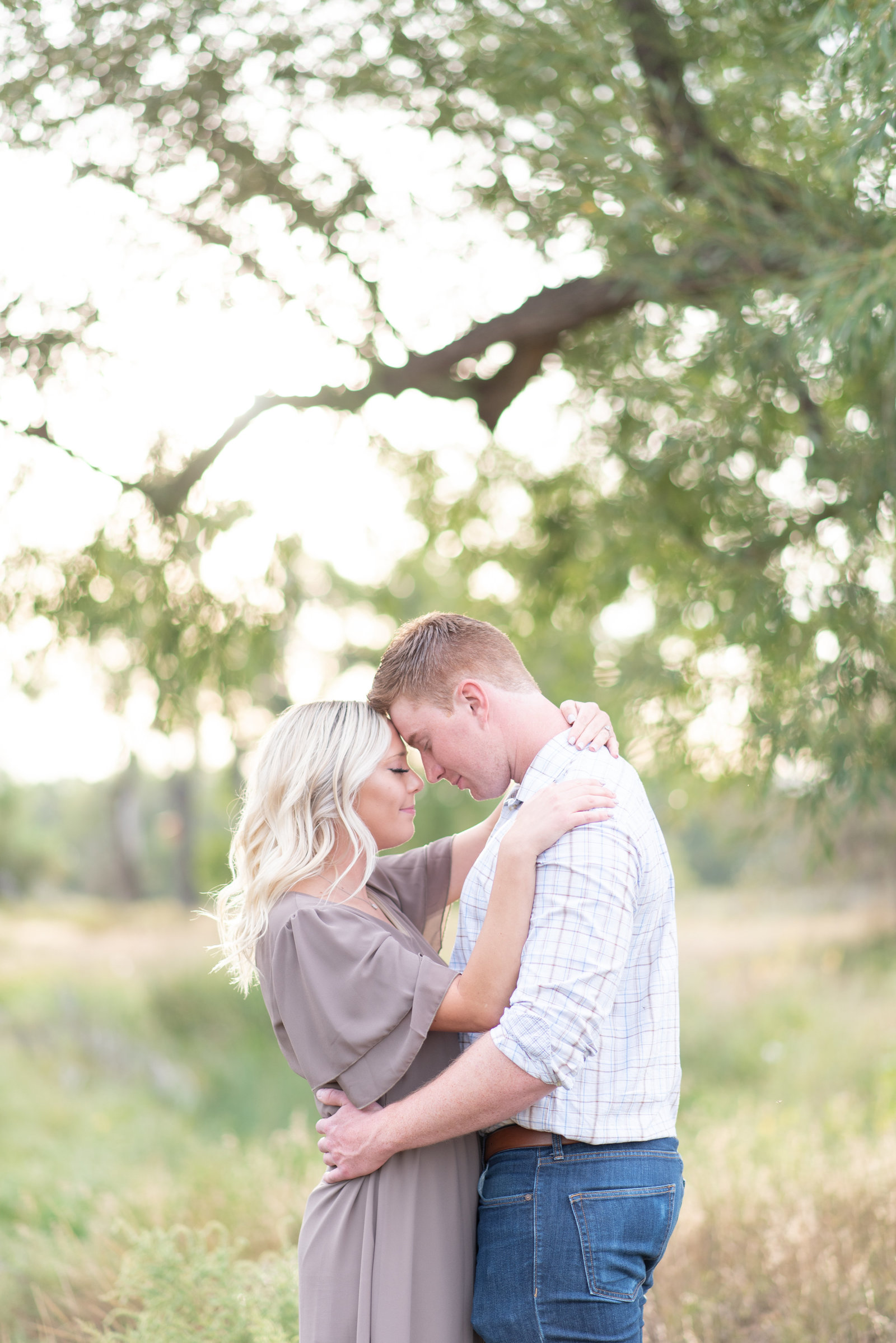 bright and airy Colorado engagement session