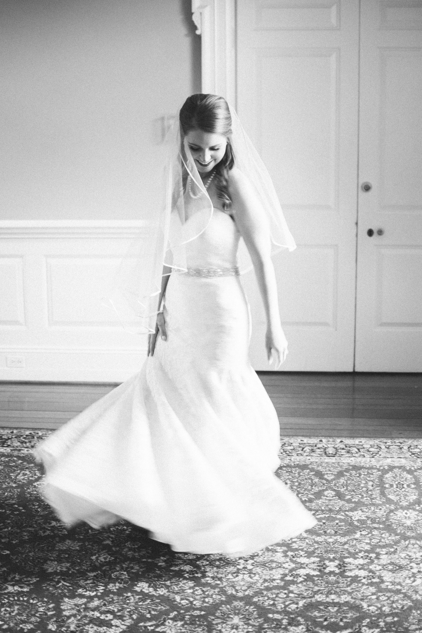 charlotte wedding photographer shot of bride in dress