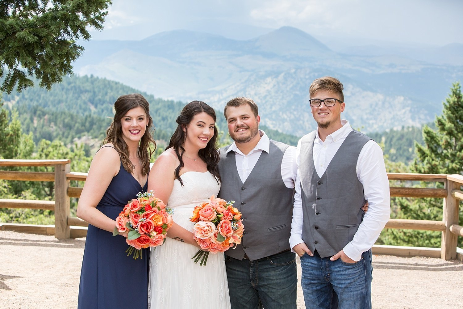 Colorado wedding photography - wedding party portraits