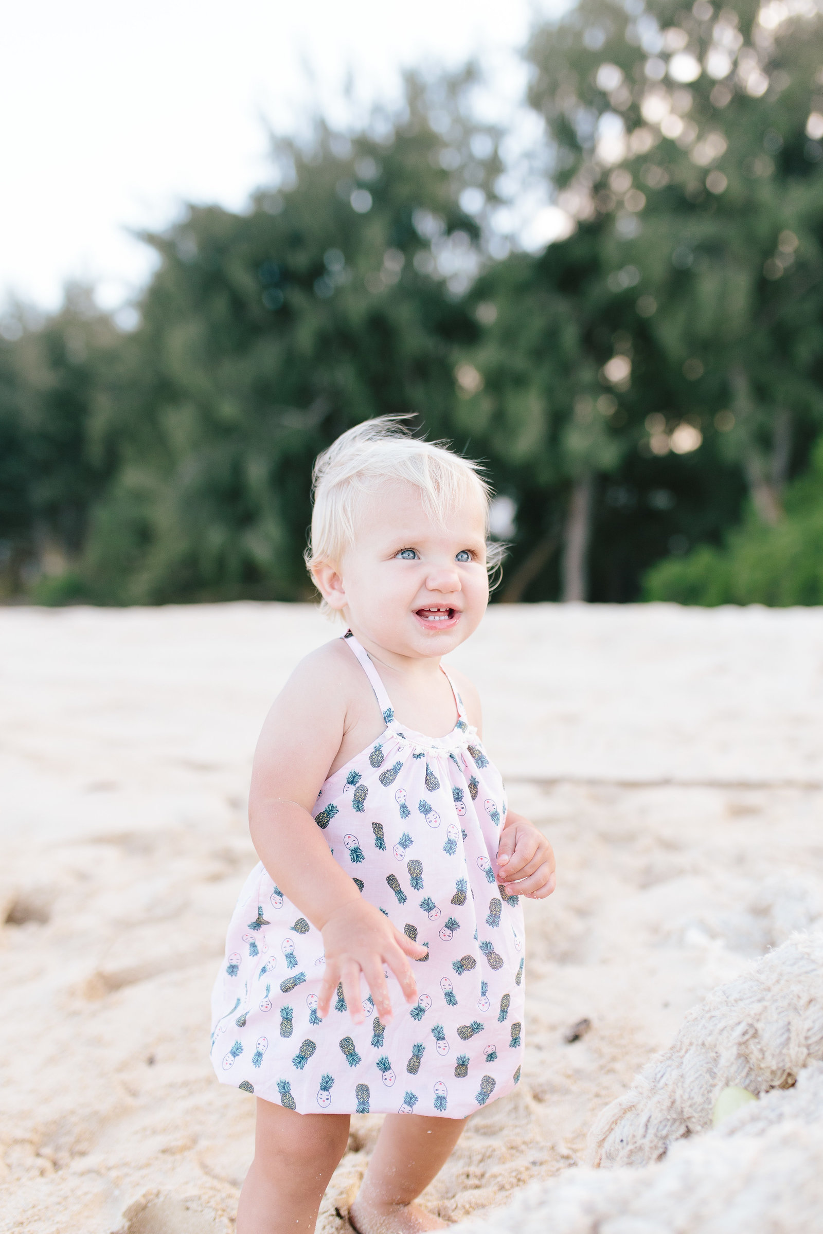 Oahu, Hawaii Lifestyle Photographer - Lifestyle Photography - Brooke Flanagan Photography - Little girl on the beach