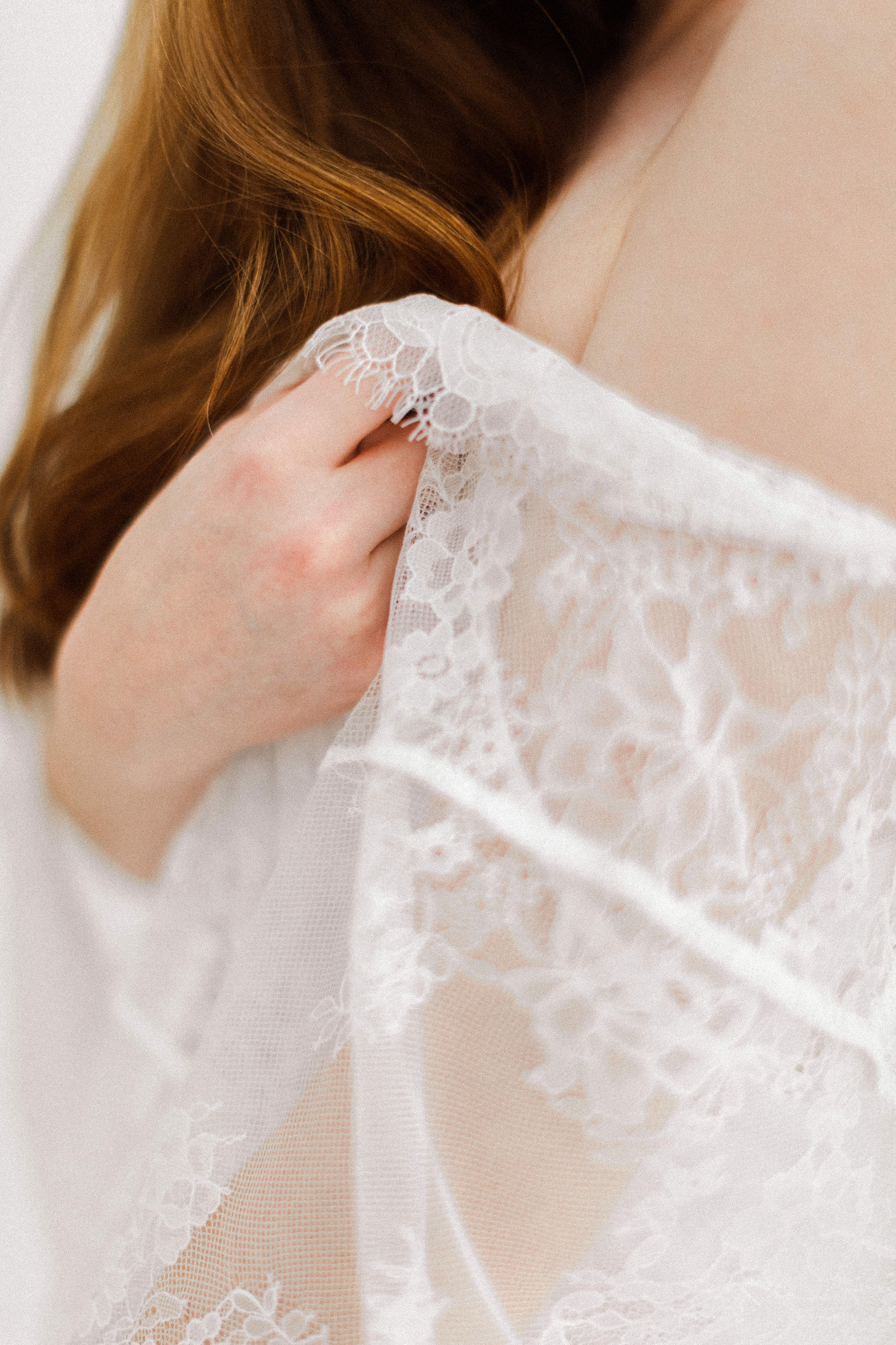 white lace lingerie robe