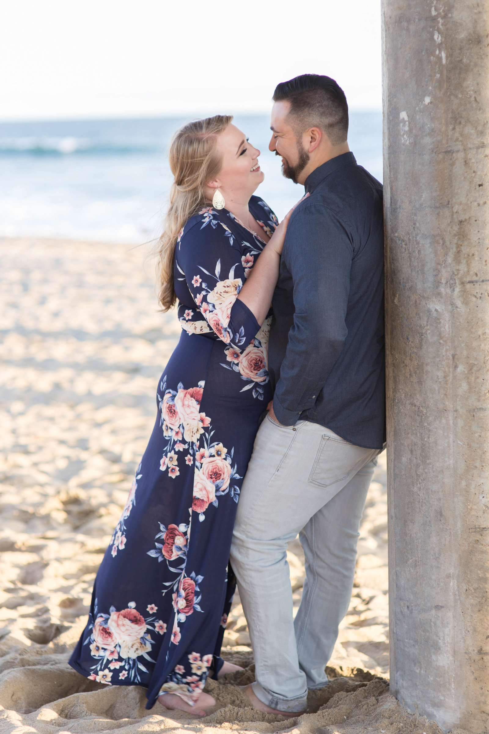 Engagement Session at Huntington Beach Pier - Kelly H Photo