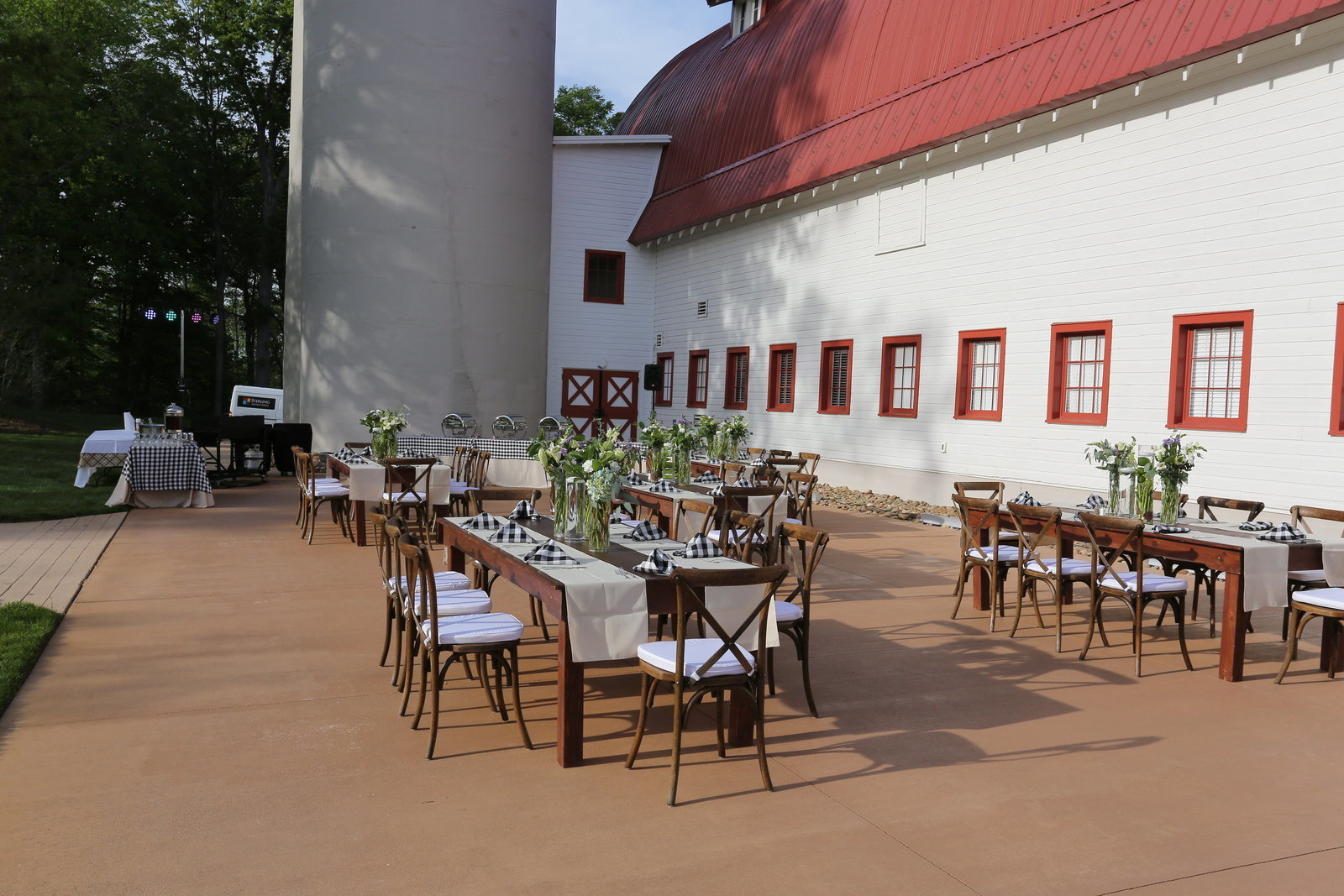 Outdoor rustic event space