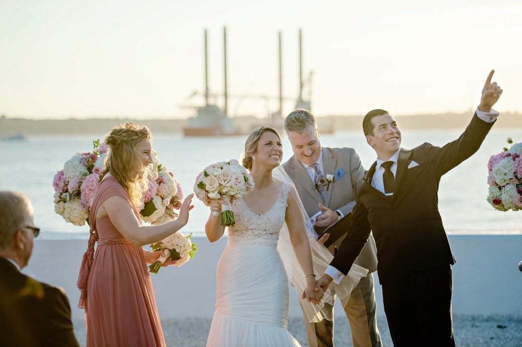 Belle Mer wedding ceremony overlooking the ocean