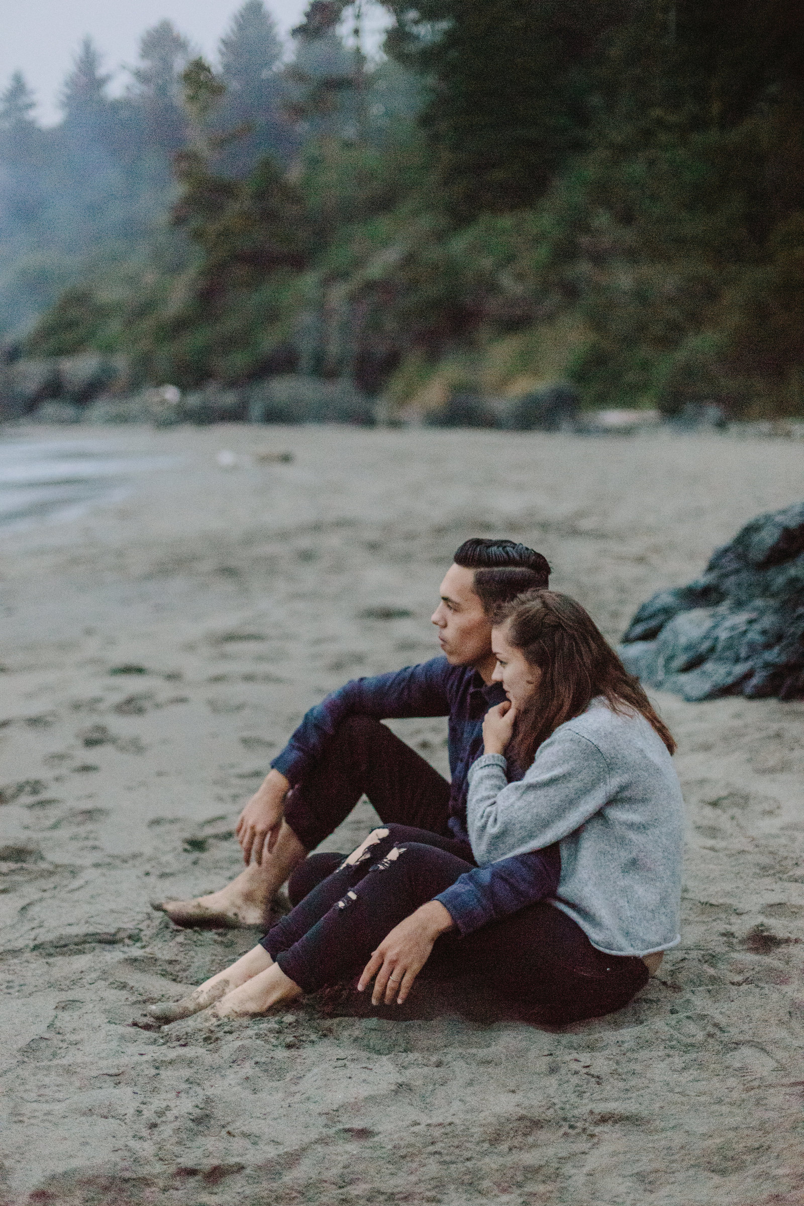 Redwood National Park Avenue of the Giants Engagement Session -7901