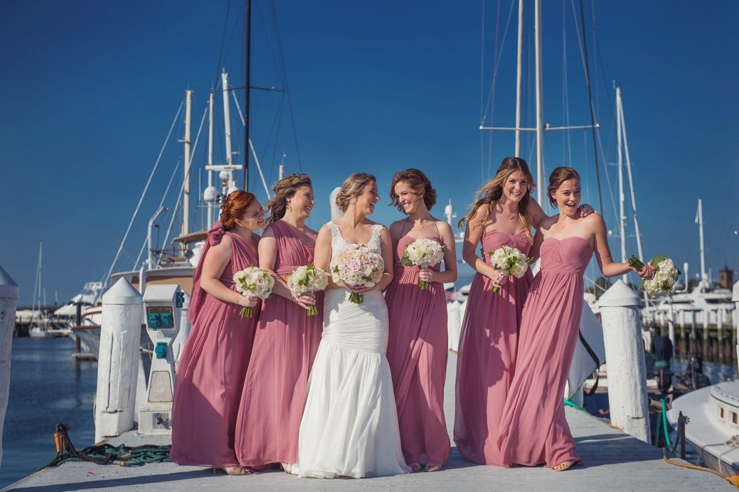 Bride & Bridesmaids at Belle Mer in Newport, RI