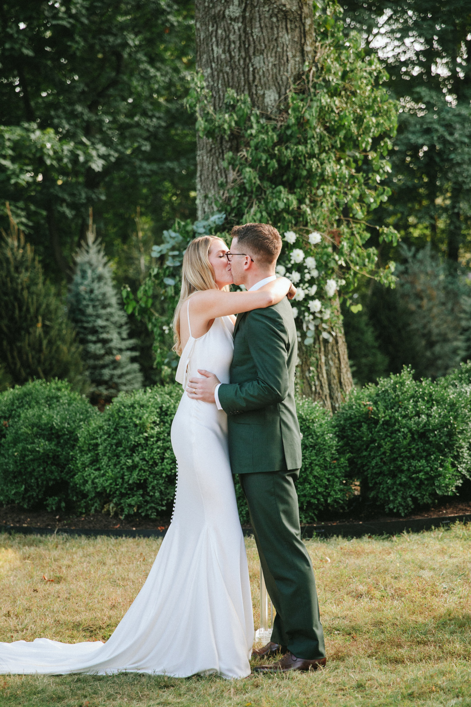 Outdoor Ceremony_Home Tented Wedding_Boho Wedding_Darien_Connecticut_8