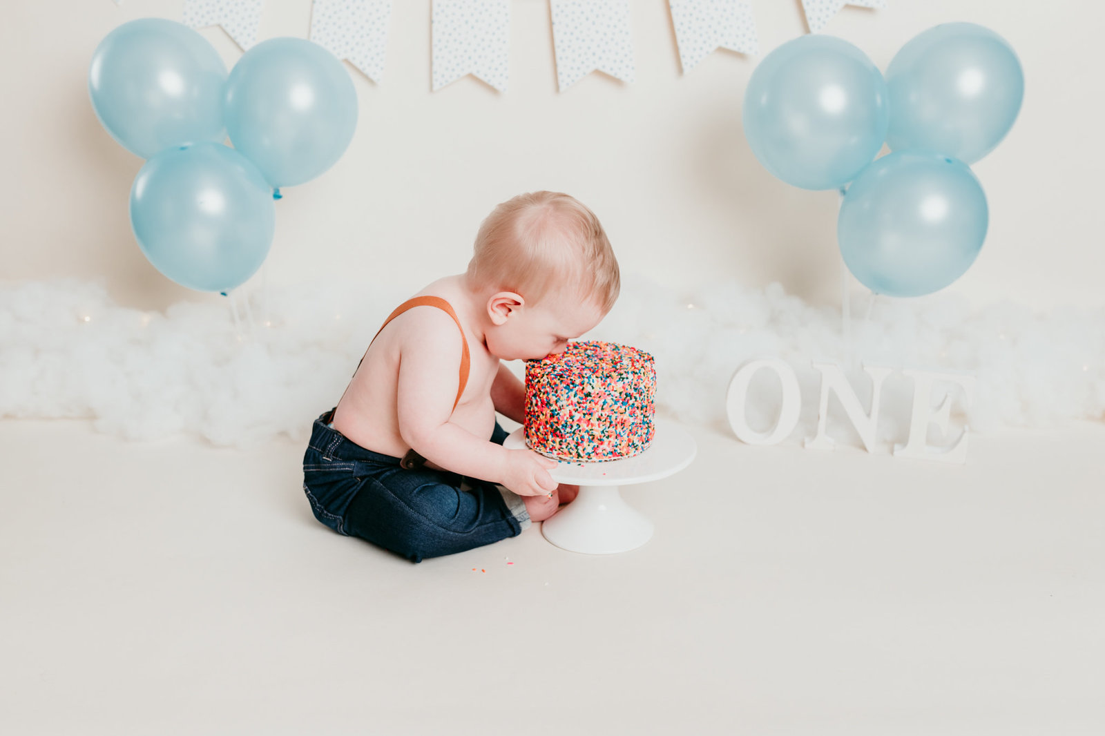 Robbie One Year Photos Cake Smash and Splash Session Valerie Clement Photography Boise, ID Photographer-7