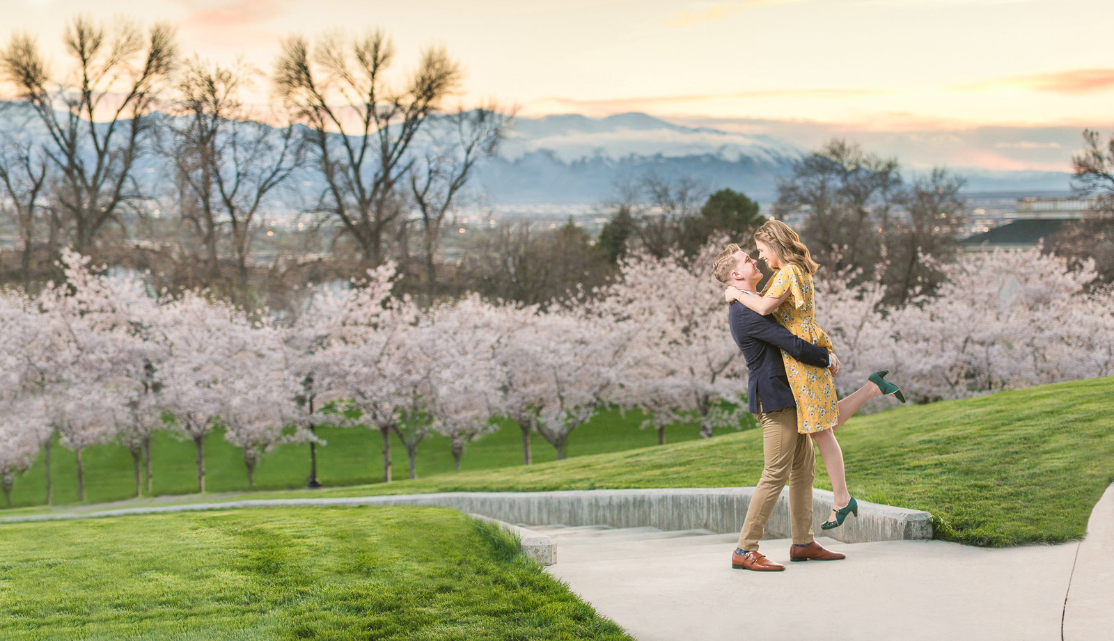 Spring Blossom Engagement at the Utah State Capitol Re-edit COVER-