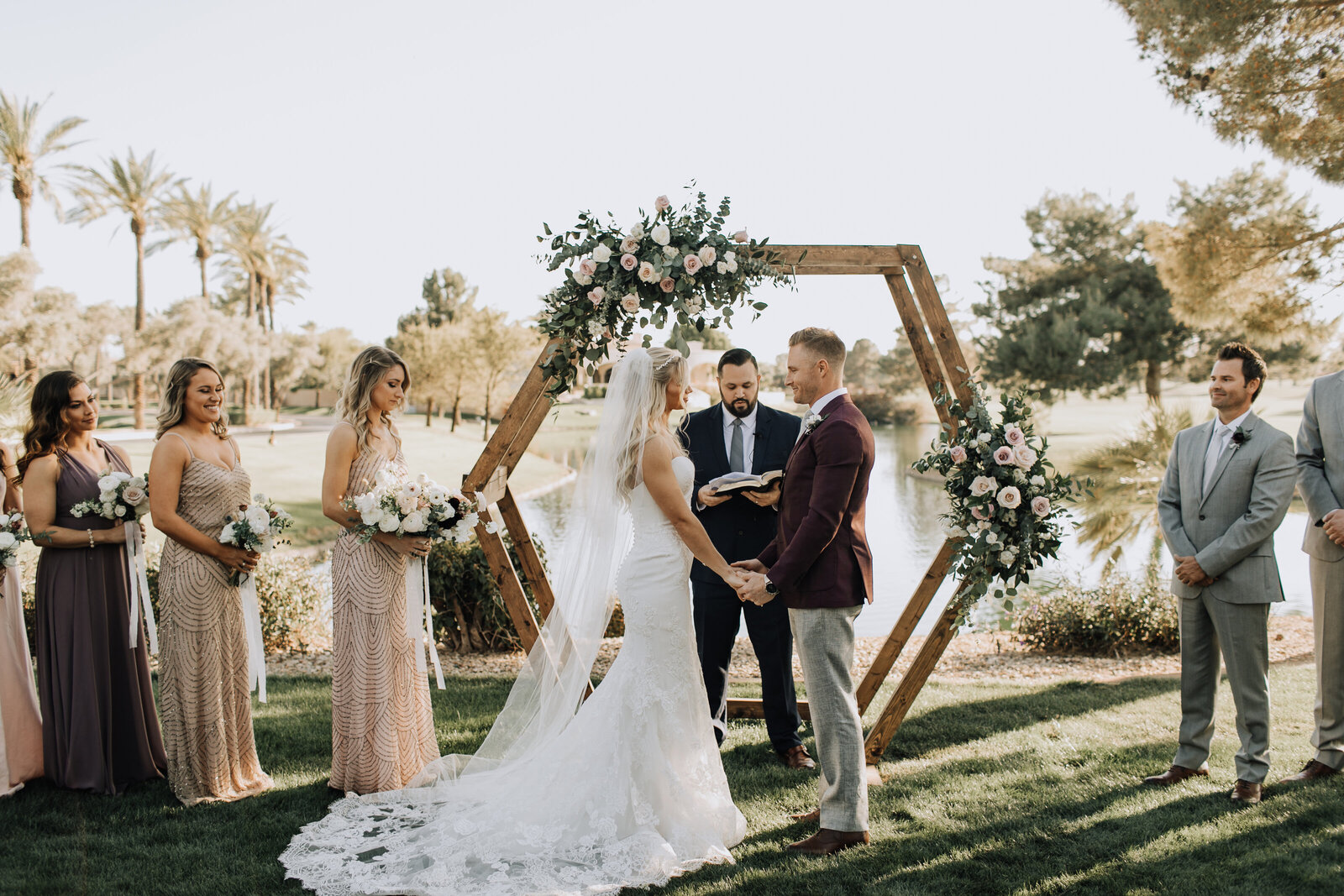 bride-groom-wedding-ceremony-arizona-luxury-wedding-flowers