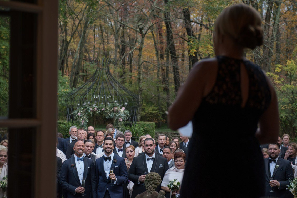 Black tie wedding at Lord Thompson Manor, CT