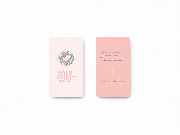 Emma Troy Design Business Card for Wild Spirit Co