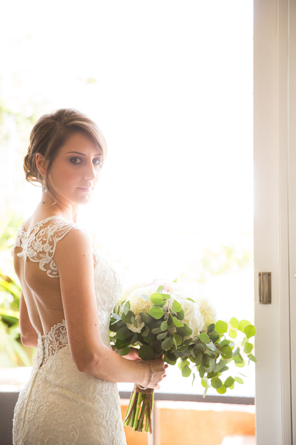Creative lighting for bridal portraits at LAuberge