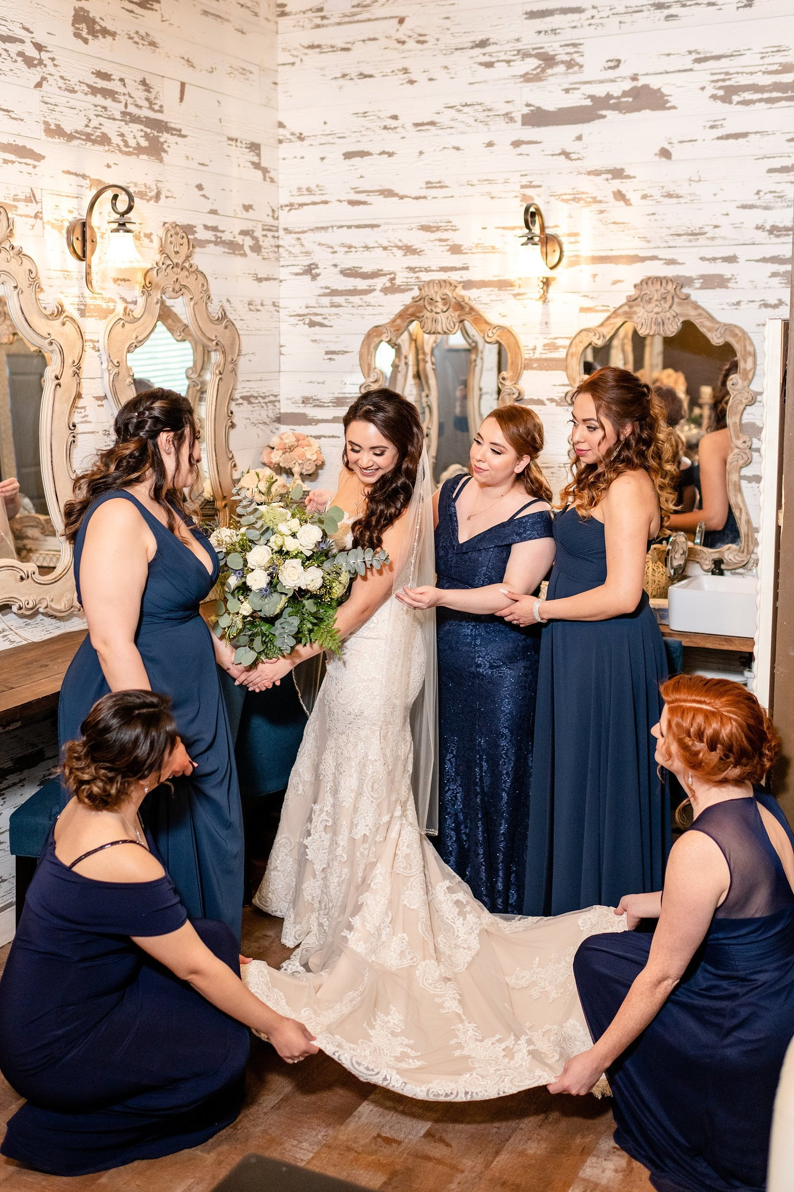Ever After Farms Wedding | Bride with Bridesmaids