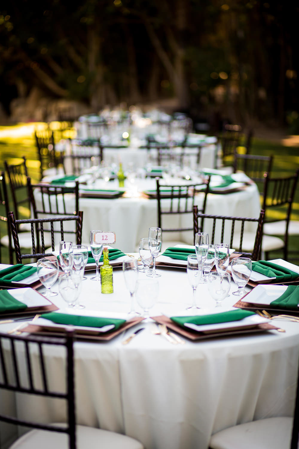 reception with green and brown
