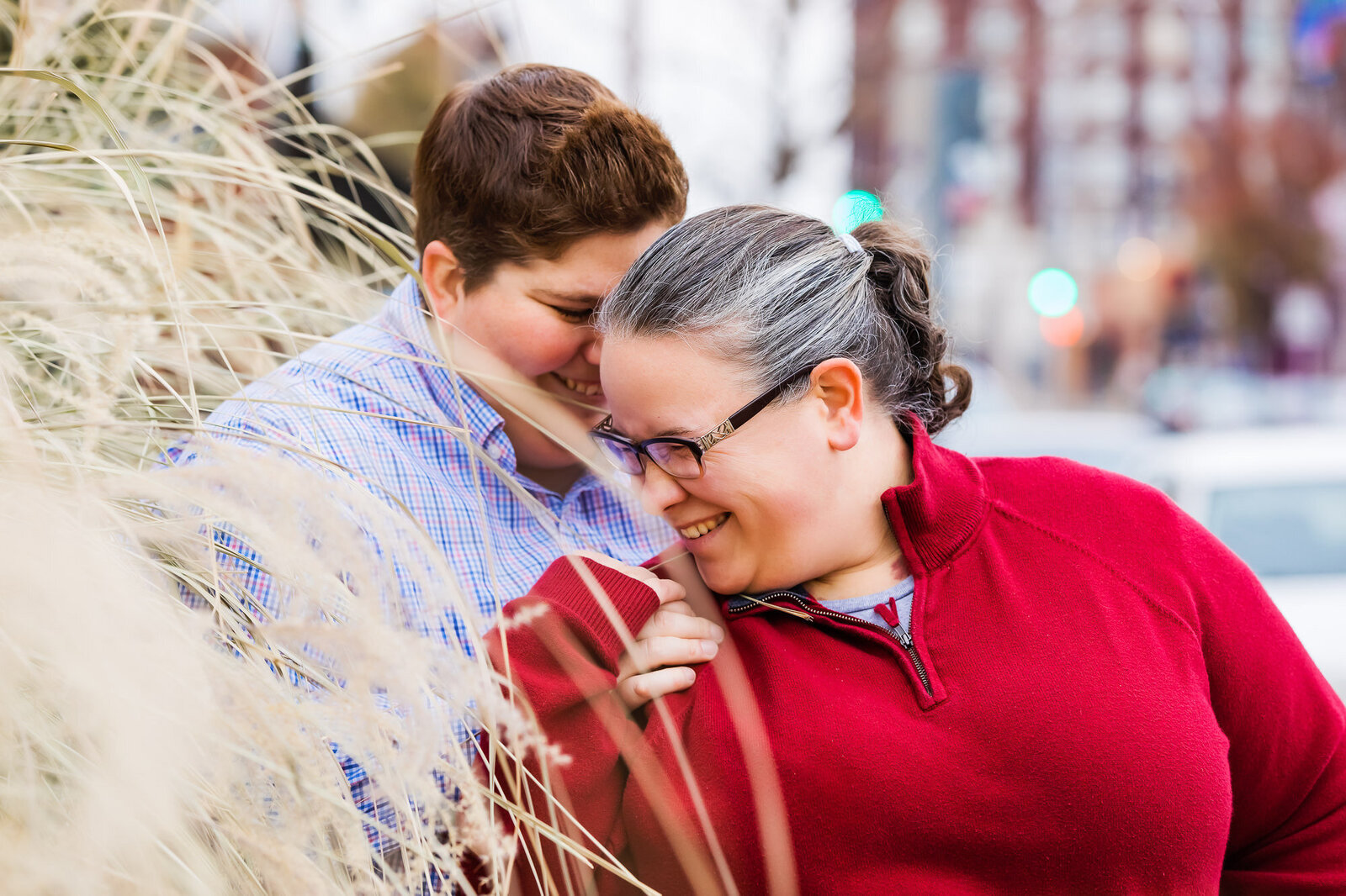 Engagement session in The Grove in St. Louis with an LGBT couple