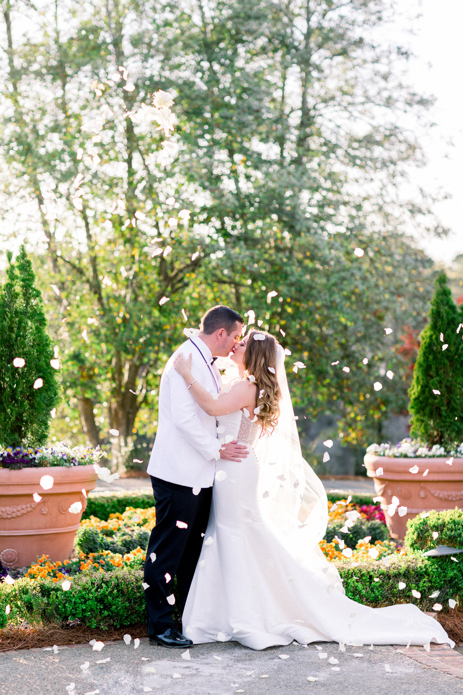 Romantic spring wedding at Country Club of the South in Atlanta, GA.