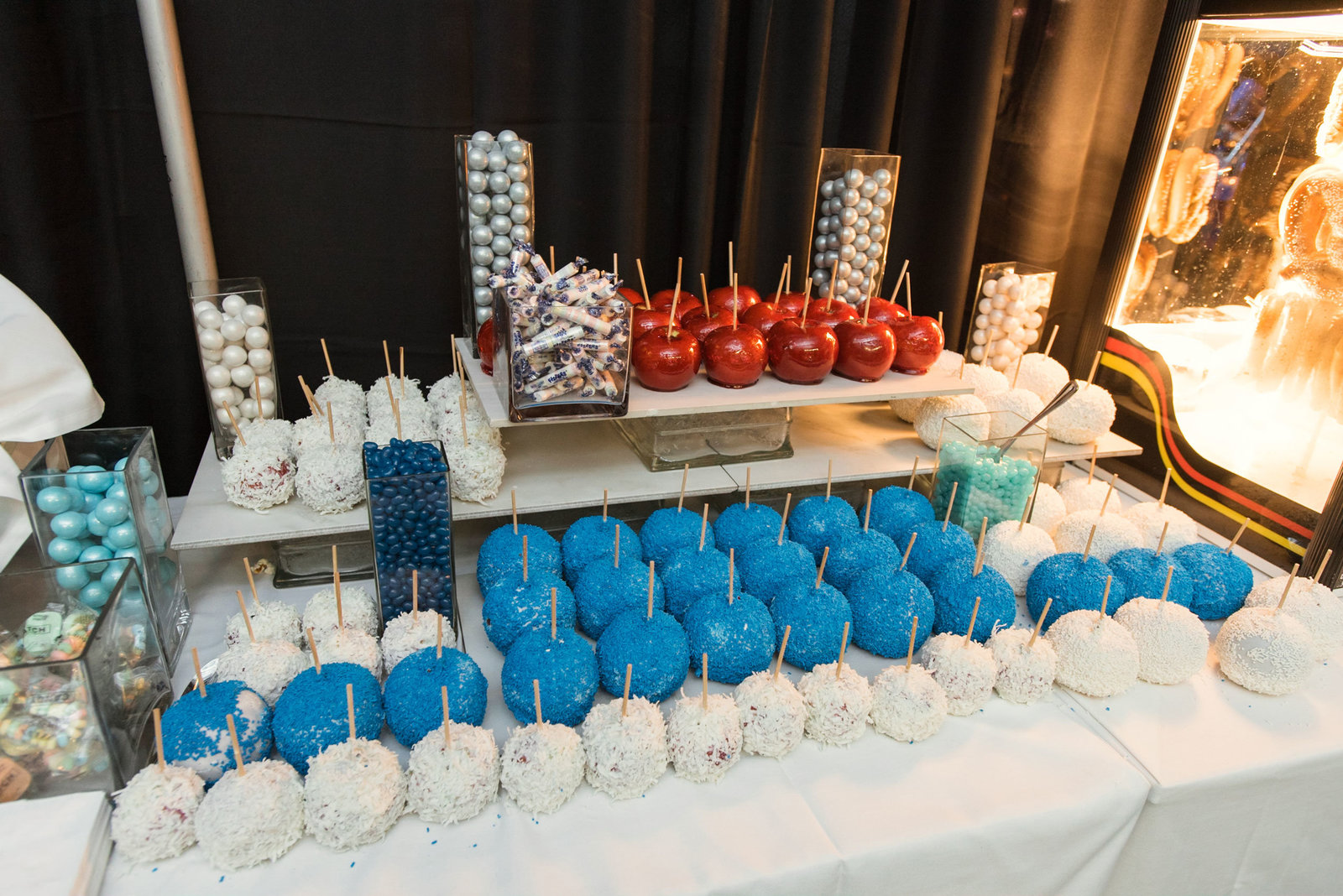 Candy apple dessert table at Cradle of Aviation