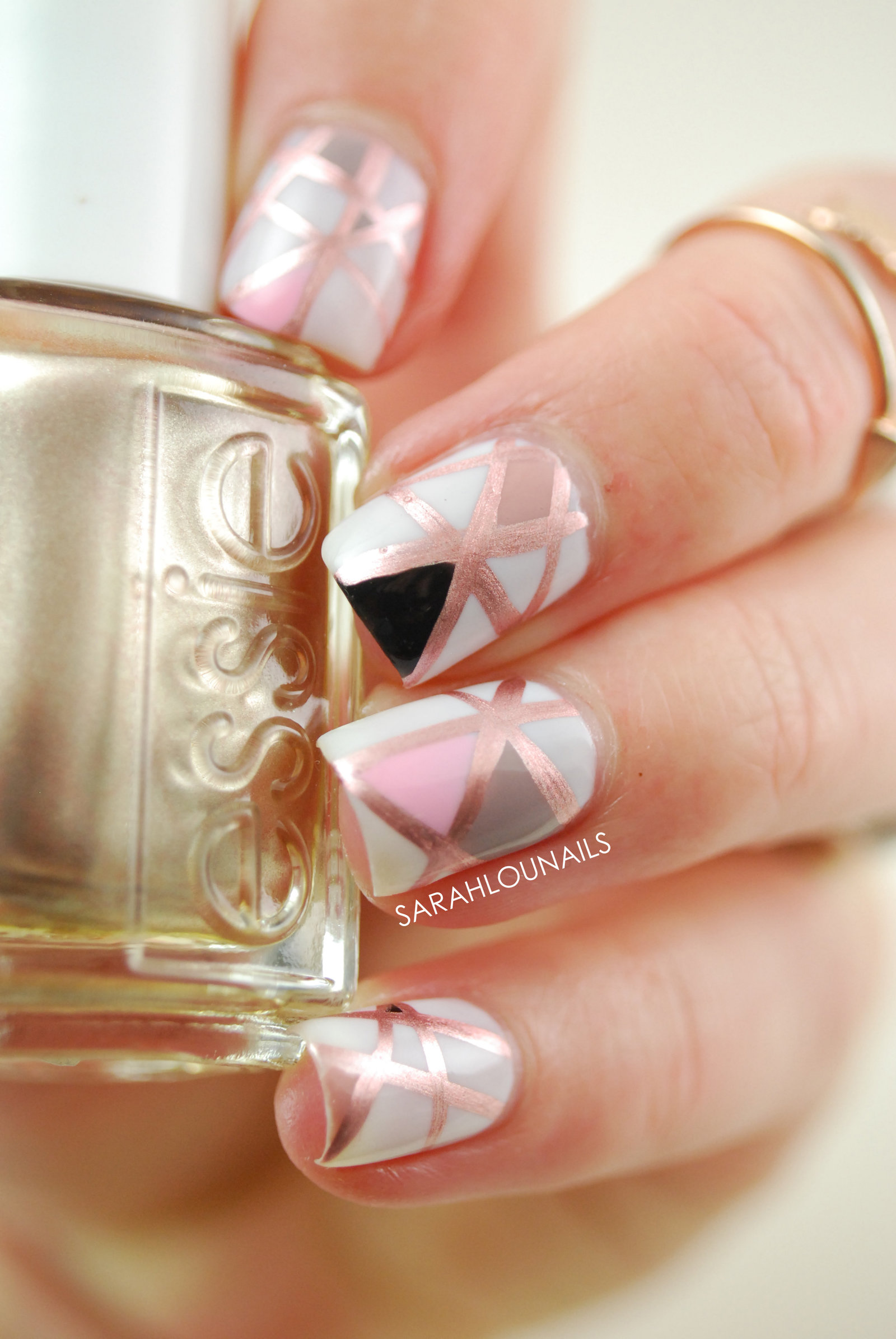 Rose Gold Geometric 2