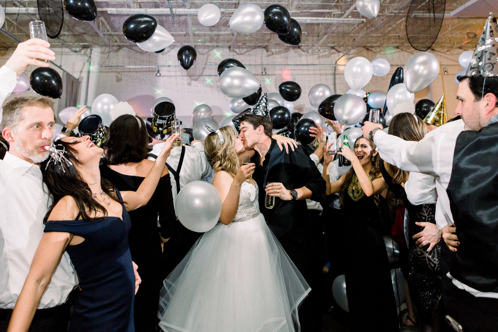 New Years Eve Wedding at American Spirit Works in Atlanta, GA. Wedding Photography for joyful, genuine brides.