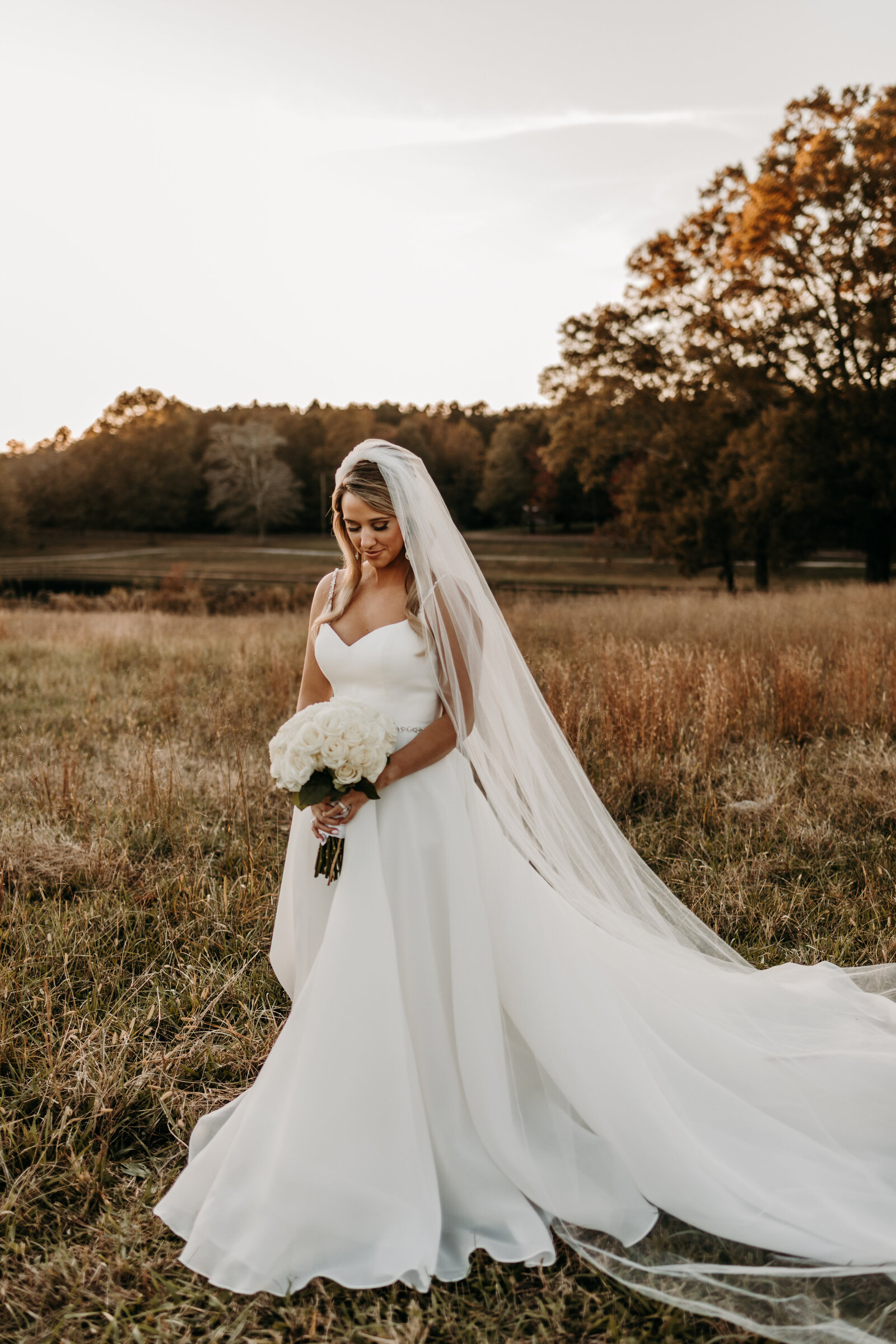 J.Michelle Photography photographs bridal portraits at vintage oaks farm wedding in Athens, Ga