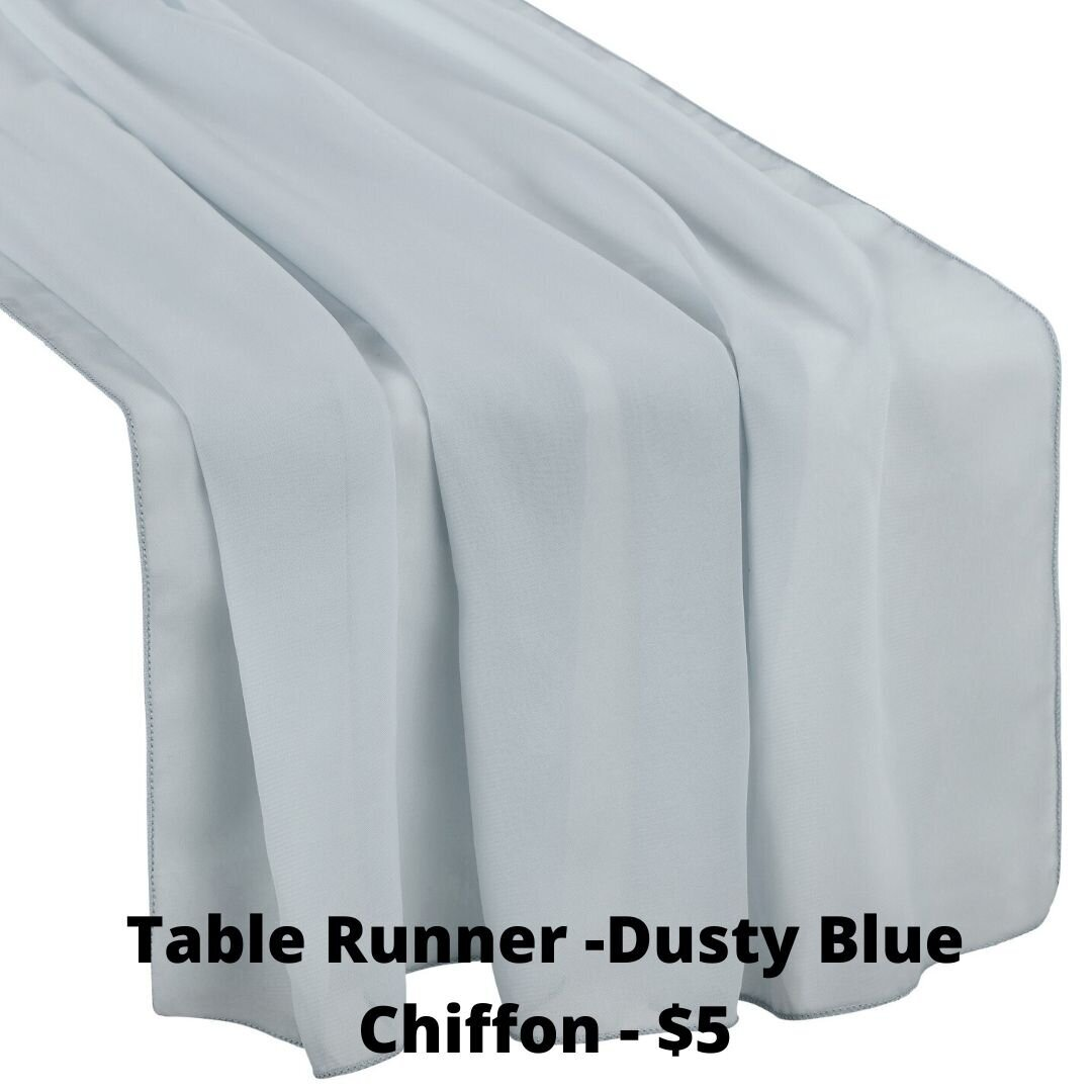 dusty blue chiffon