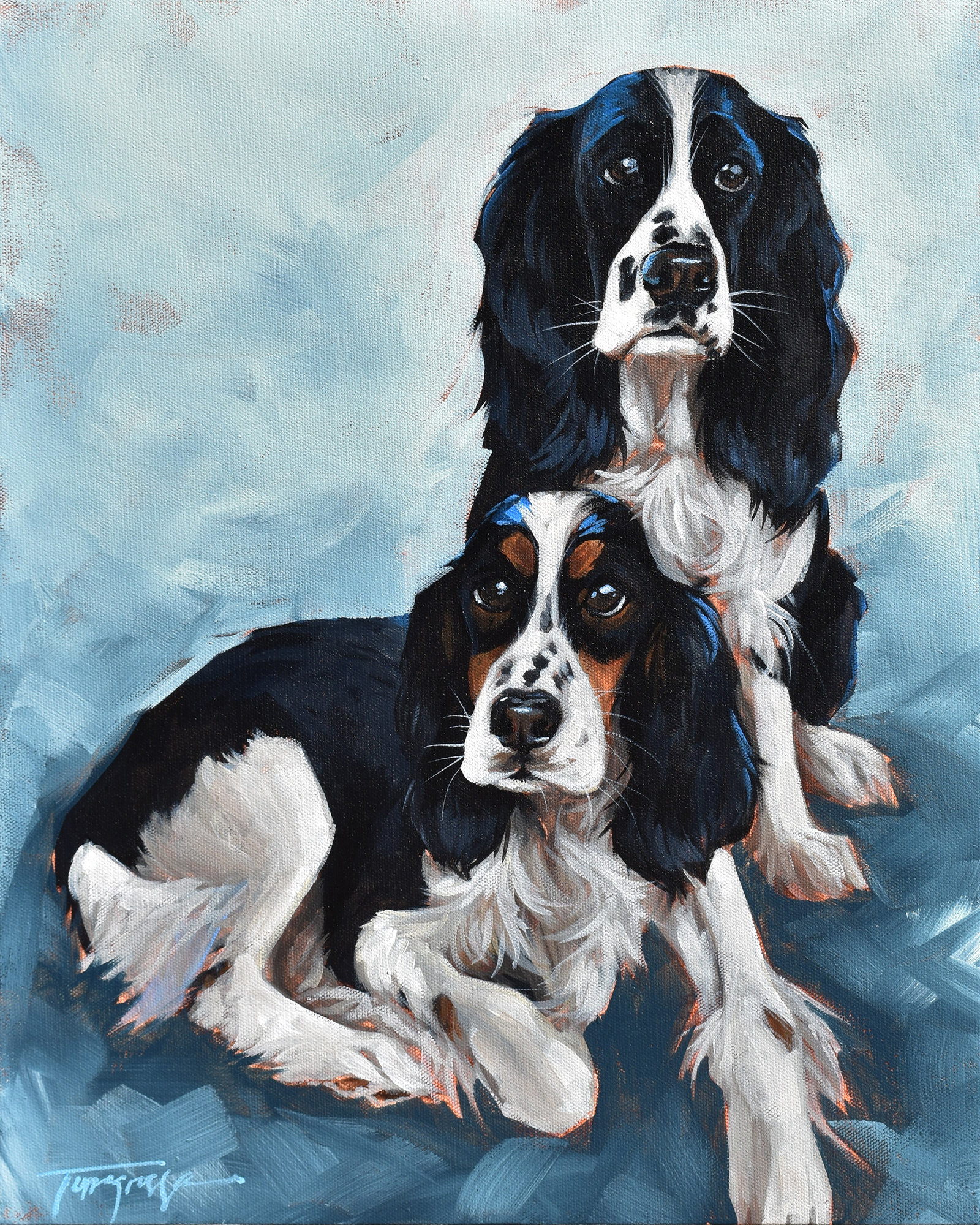 Torregrossa Fine Art Custom Pet Portrait by Stephanie T Gaffney Spaniels_16x20