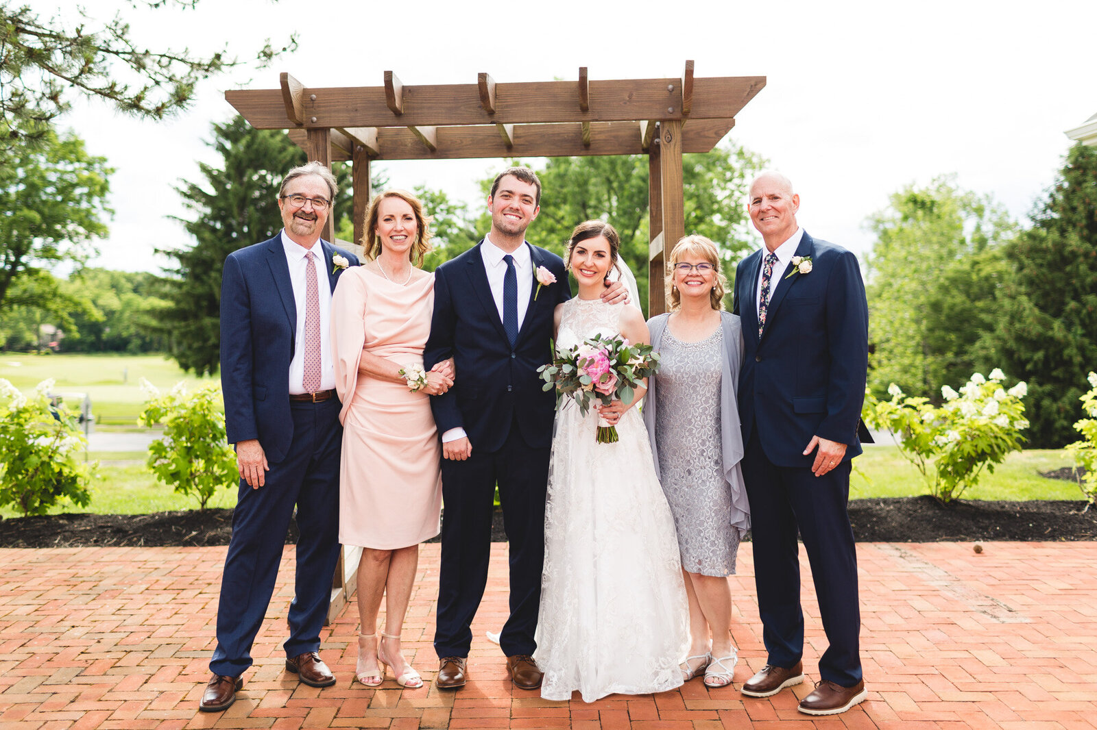 family portrait at little turtle wedding ohio