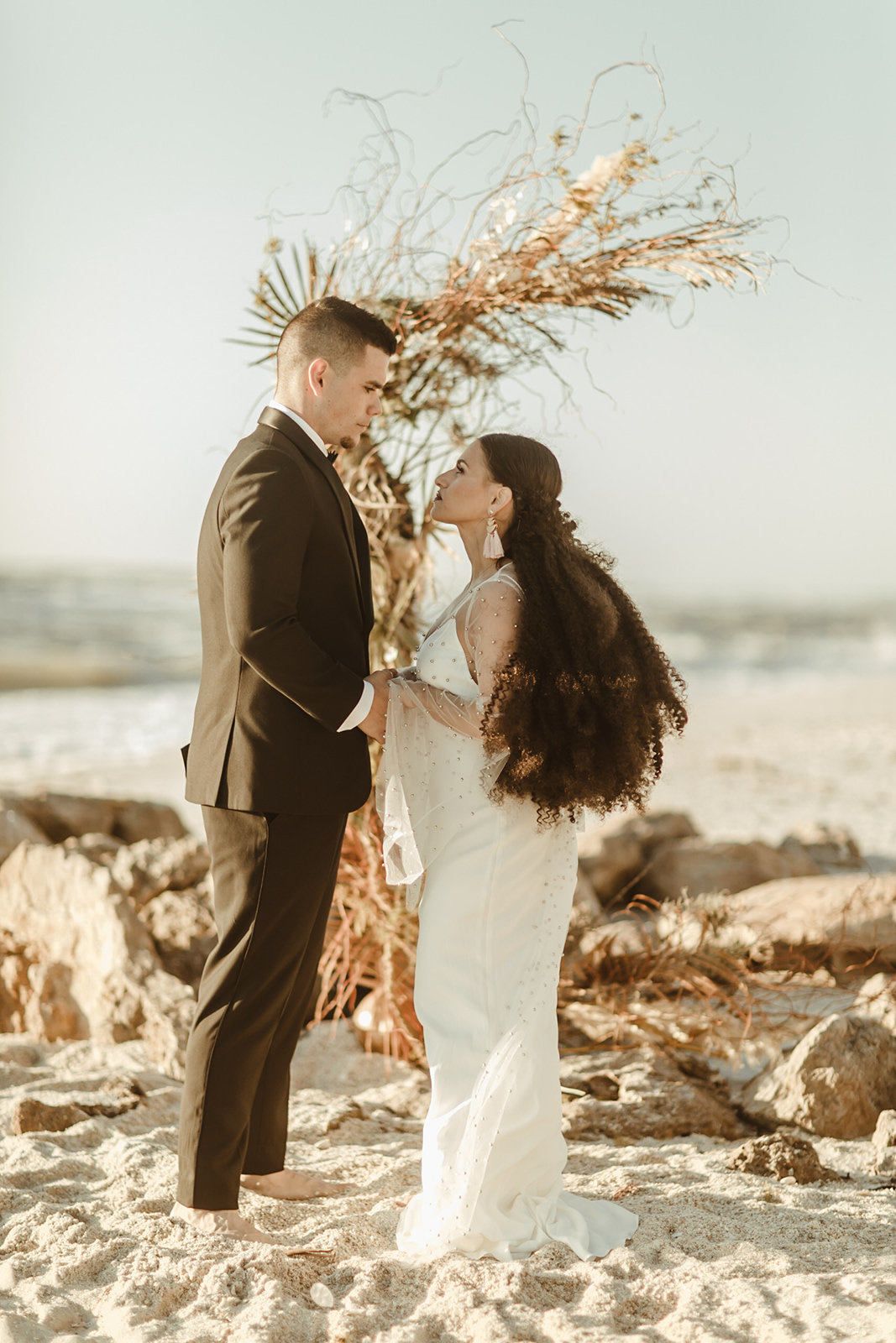 Celestial wedding inspiration_ beach elopement style-102