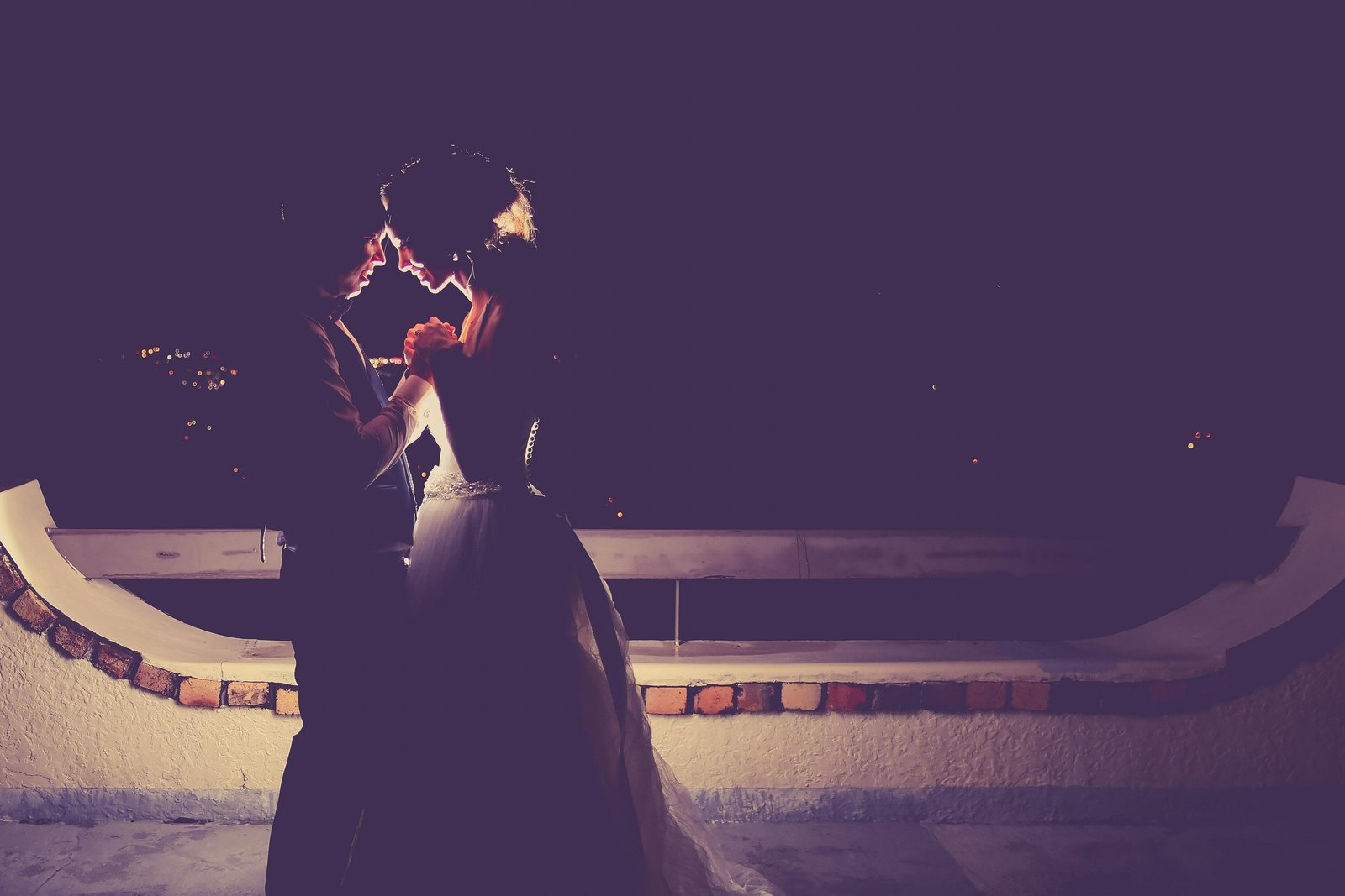 Bride and groom silhouette. Photo by Ross Photography, Trinidad, W.I..