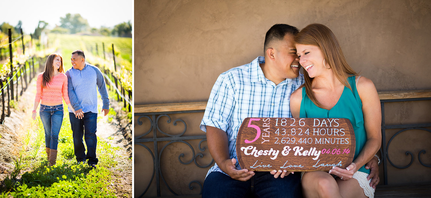 Temecula Vinery  engagement photos cute save the date sign