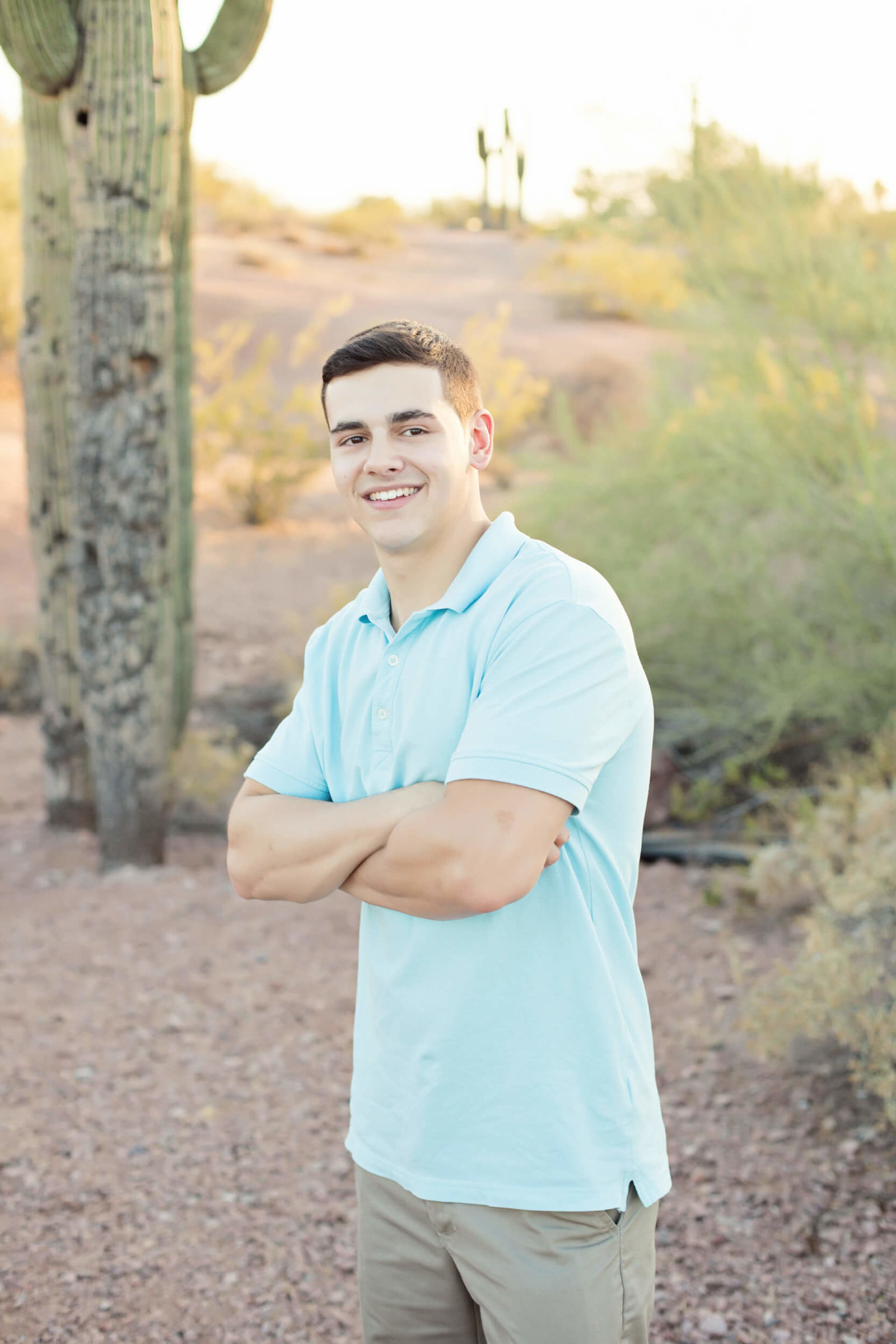 arizona desert senior portraits