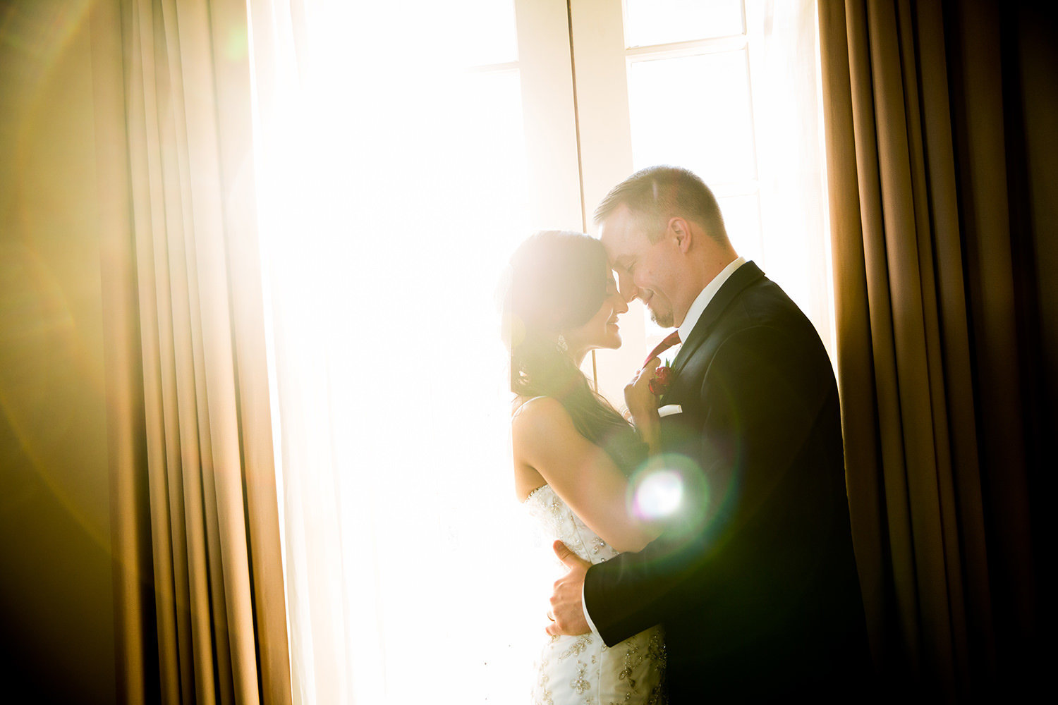 cool window light with couple at us grant hotel