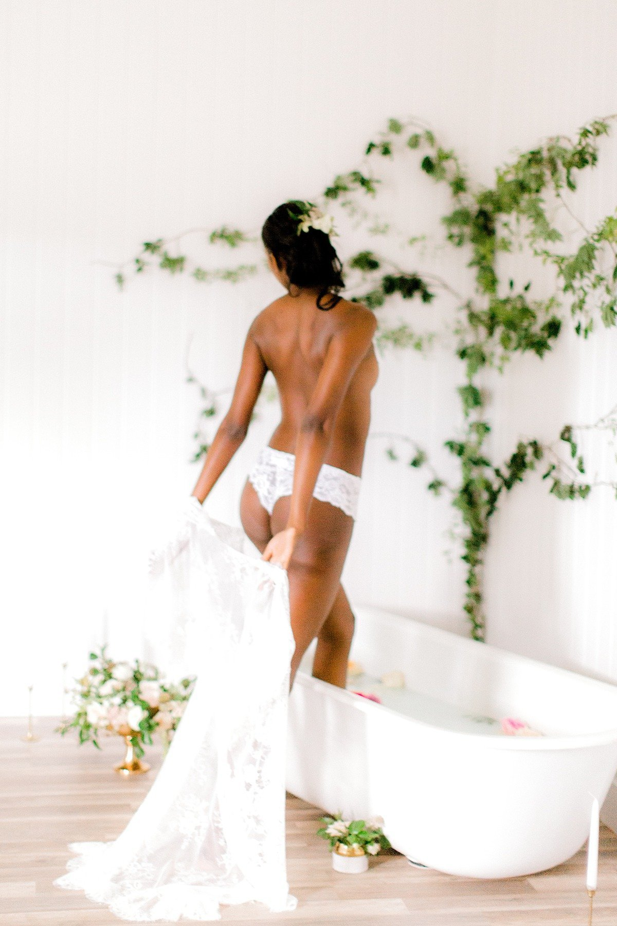 Fine Art Milk Bath Boudoir BHLDN Asos Lingerie VA Beach Studio Photographer Yours Truly Portraiture-110