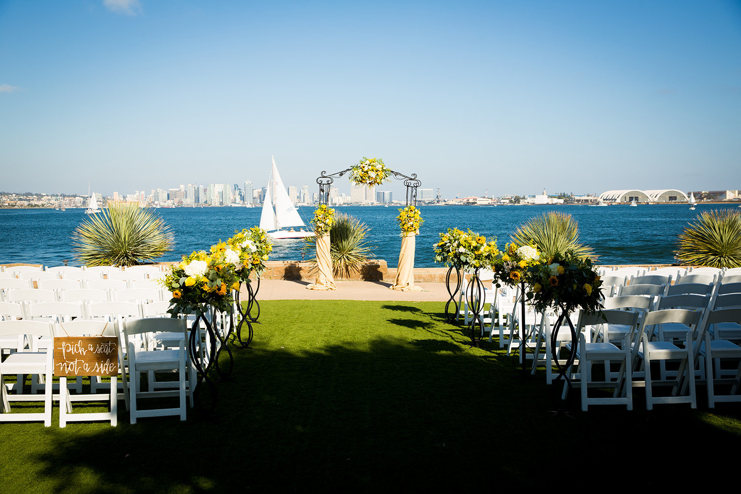 ceremony space at admiral kidd club