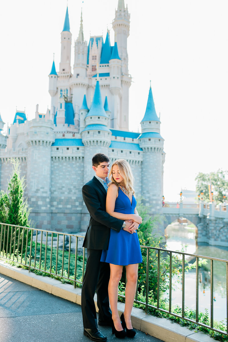 Orlando Engagement Photographer | Disney Magic Kingdom Engagement Session | Enagement at Disney-5