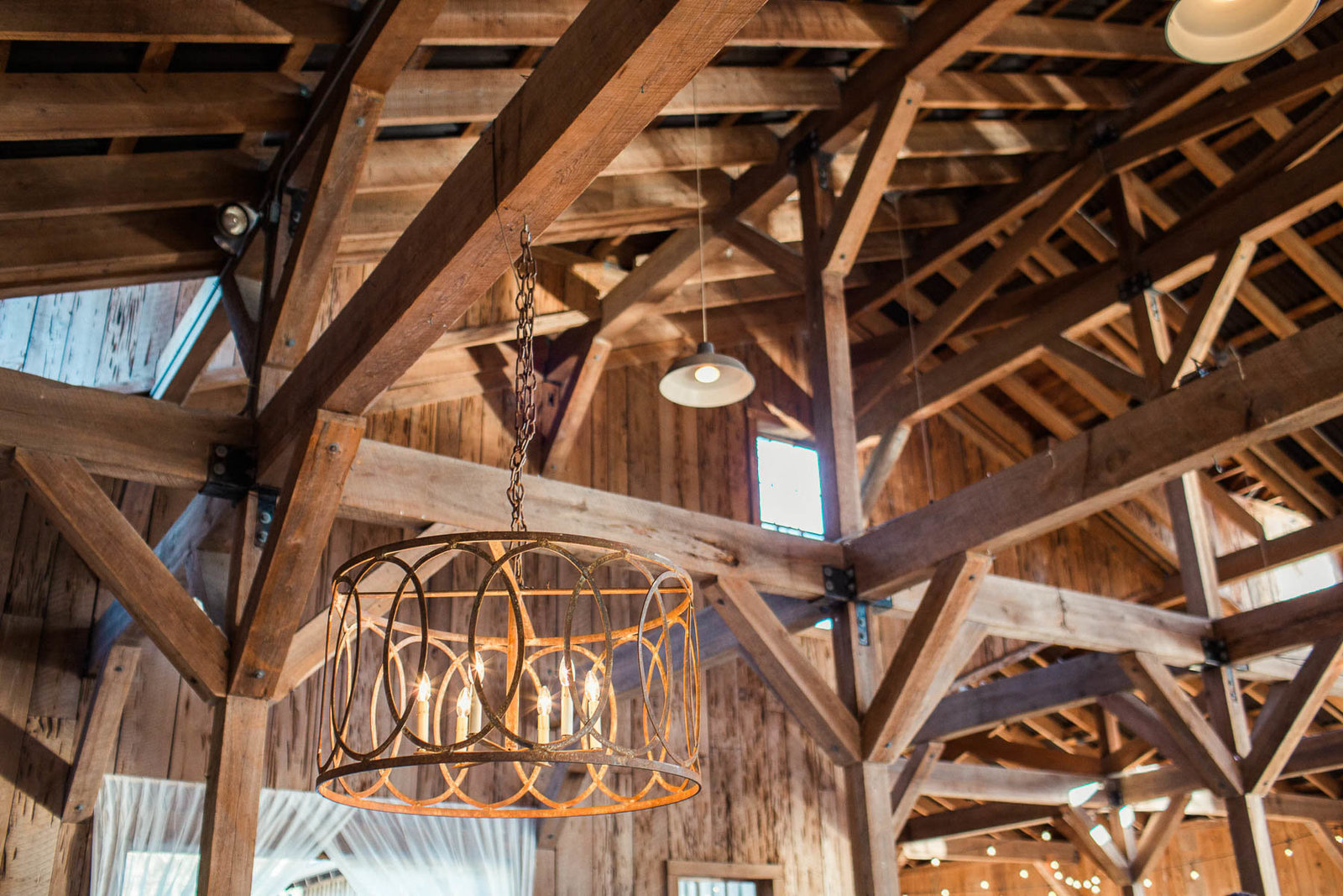 Chandelier hangs in cotton dock, Boone Hall Plantation, Charleston, South Carolina