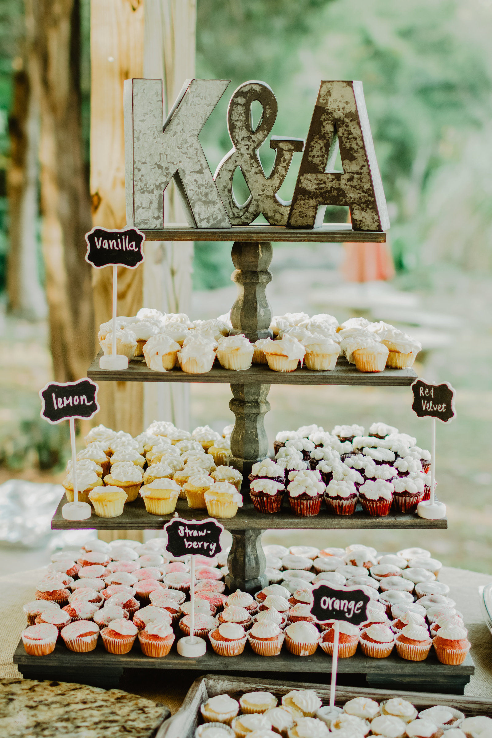 Instead of the traditional wedding cake how about mini cupcakes in assorted flavors