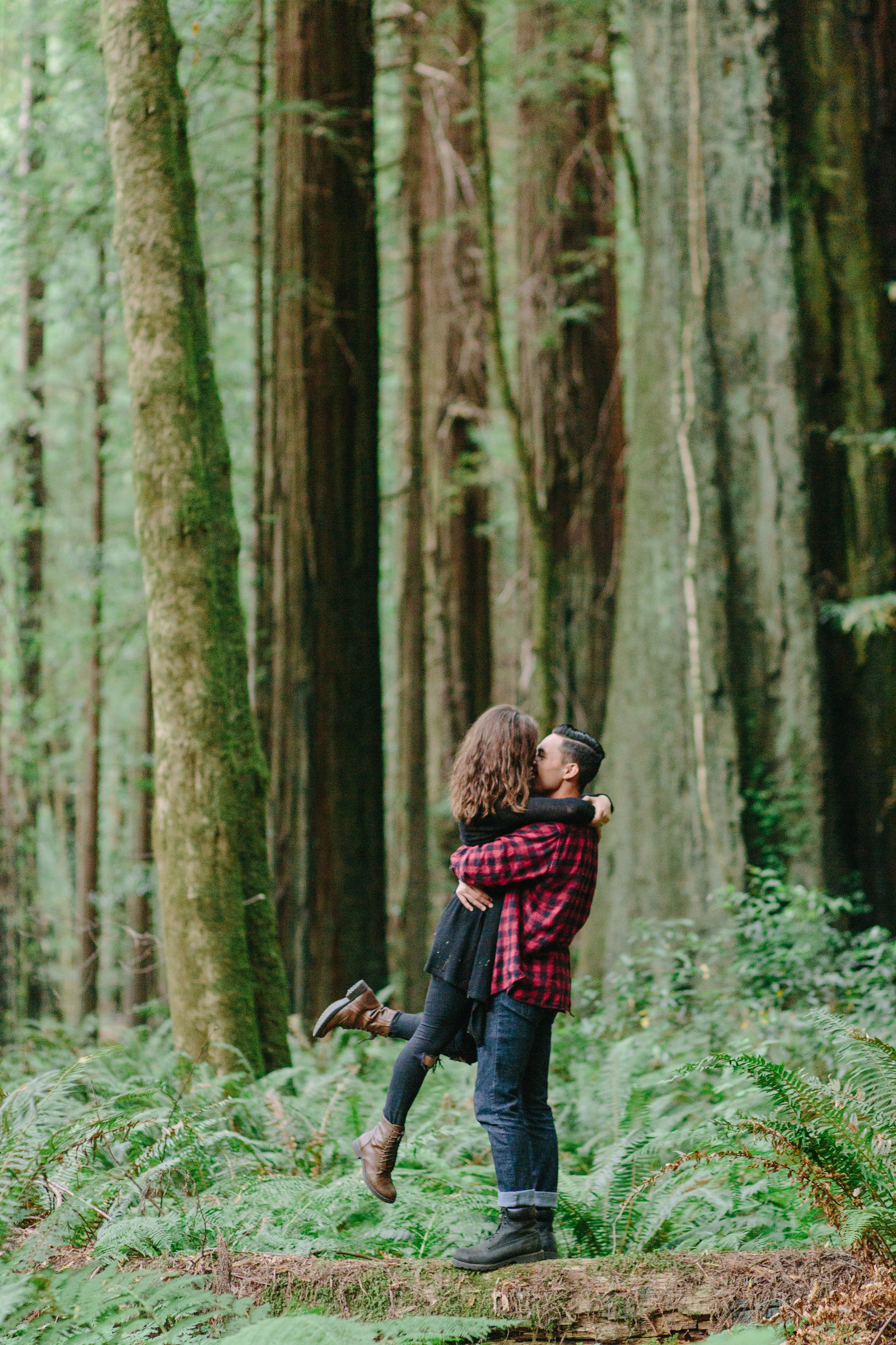 Redwood National Park Avenue of the Giants Engagement Session -7504
