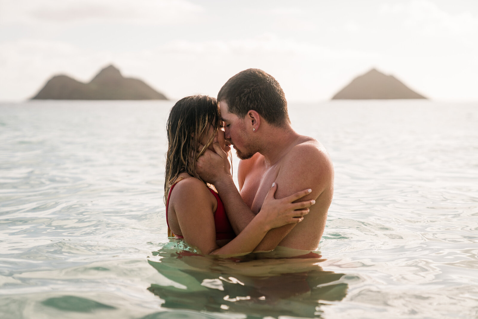 lanikai beach oahu engagement session adventure photographer hawaii