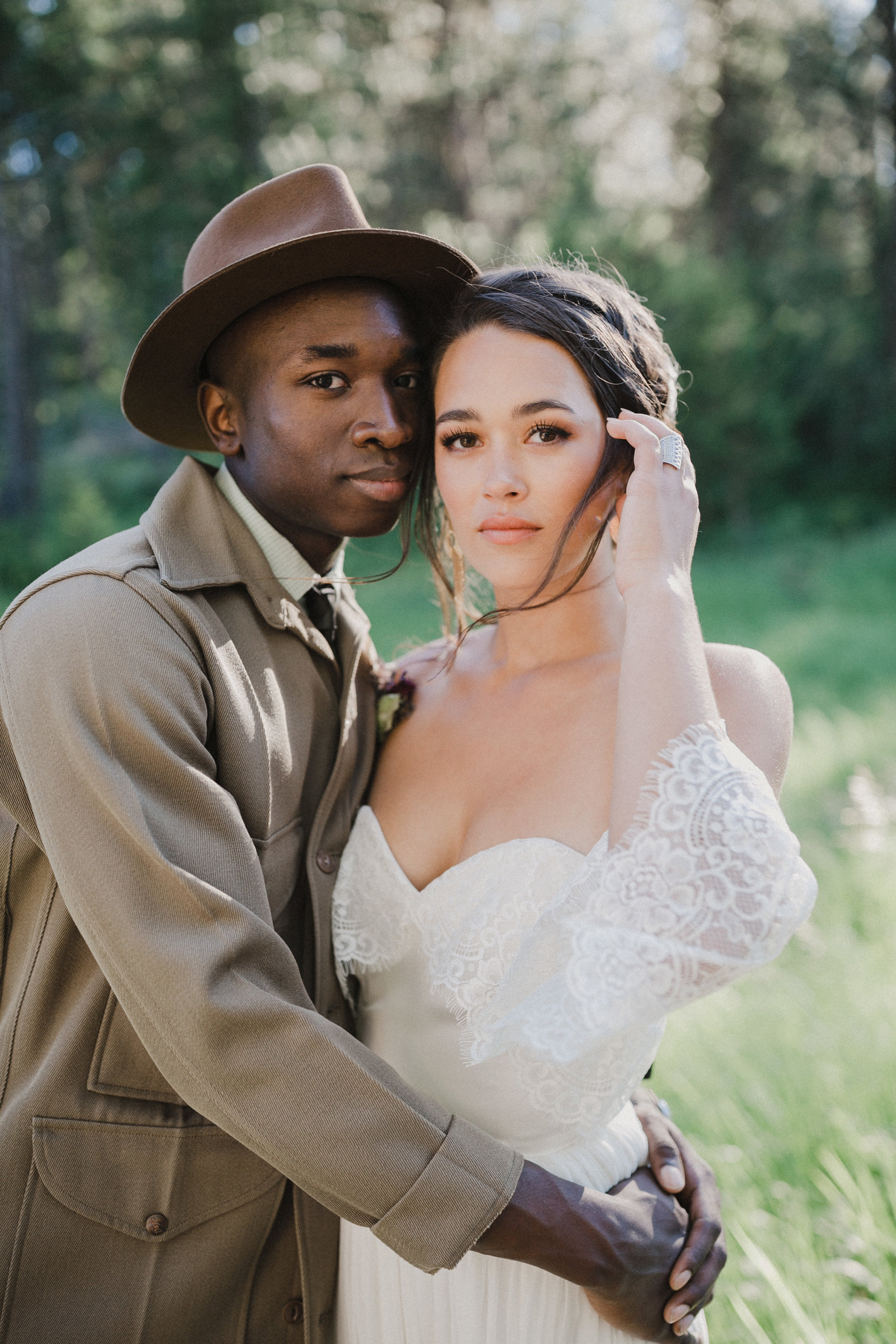 Adventurous styled wedding shoot in Missoula, Montana.