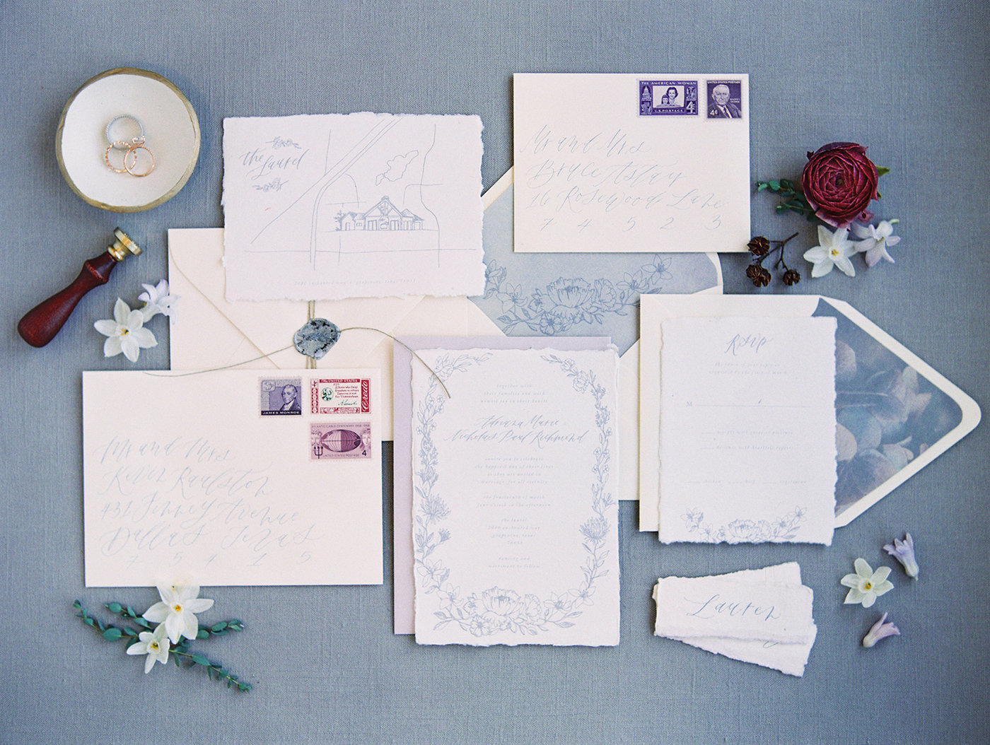 Sarah Ann Design - Fine Art Wedding Invitation Design - Lavender - 00001