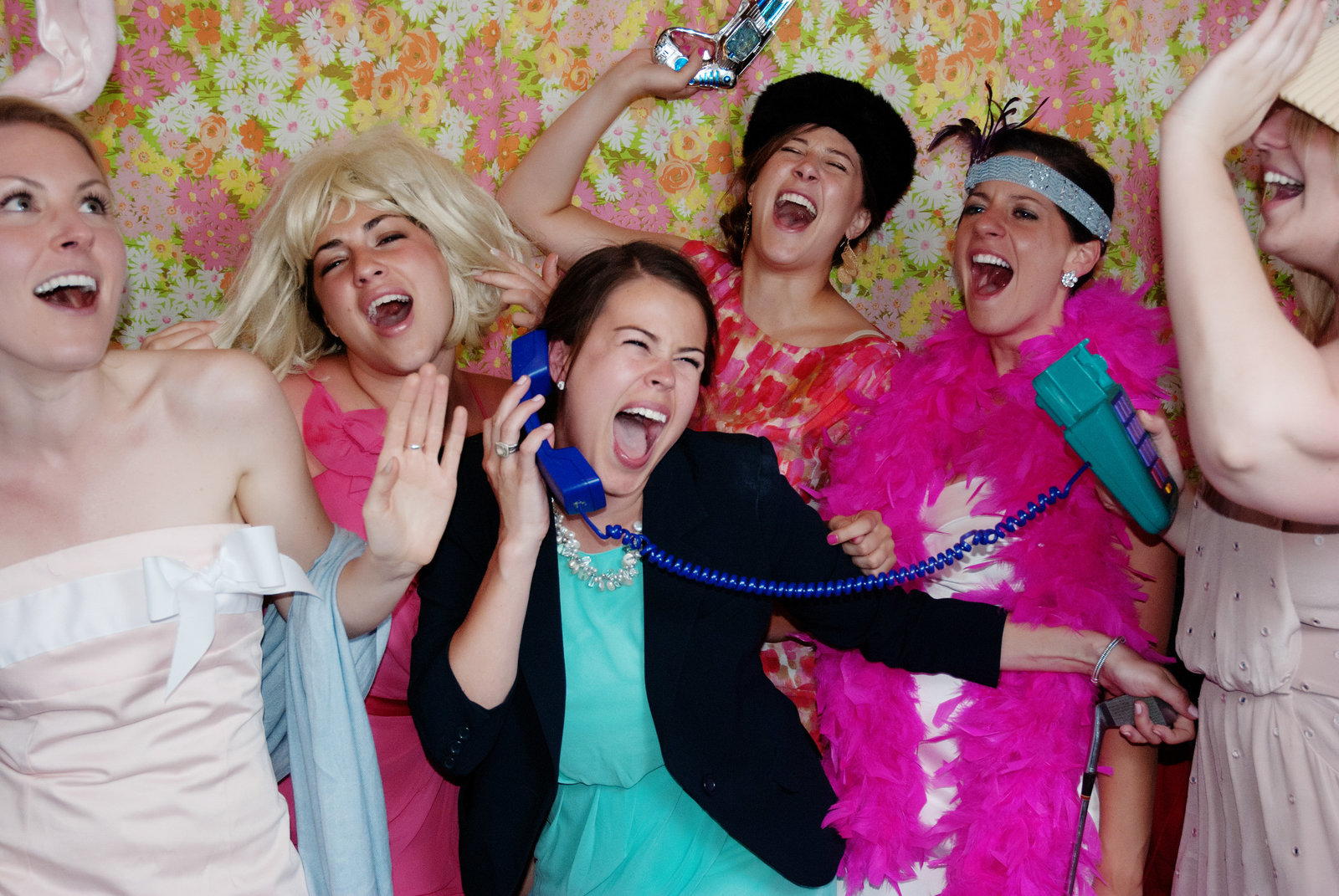 silly telephone wedding photo booth