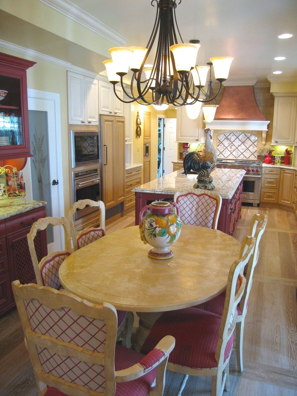 Country French Kitchen Dining Area Design