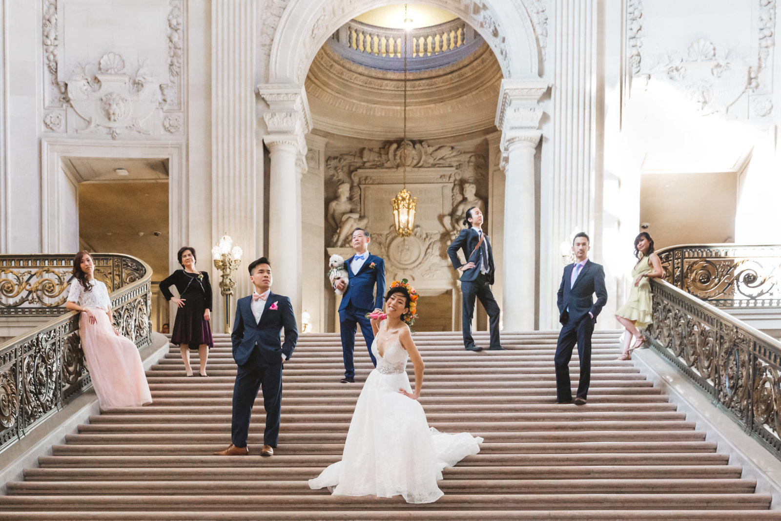 Fun family portraits by Zoe Larkin Photography, San Francisco City Hall wedding photographer