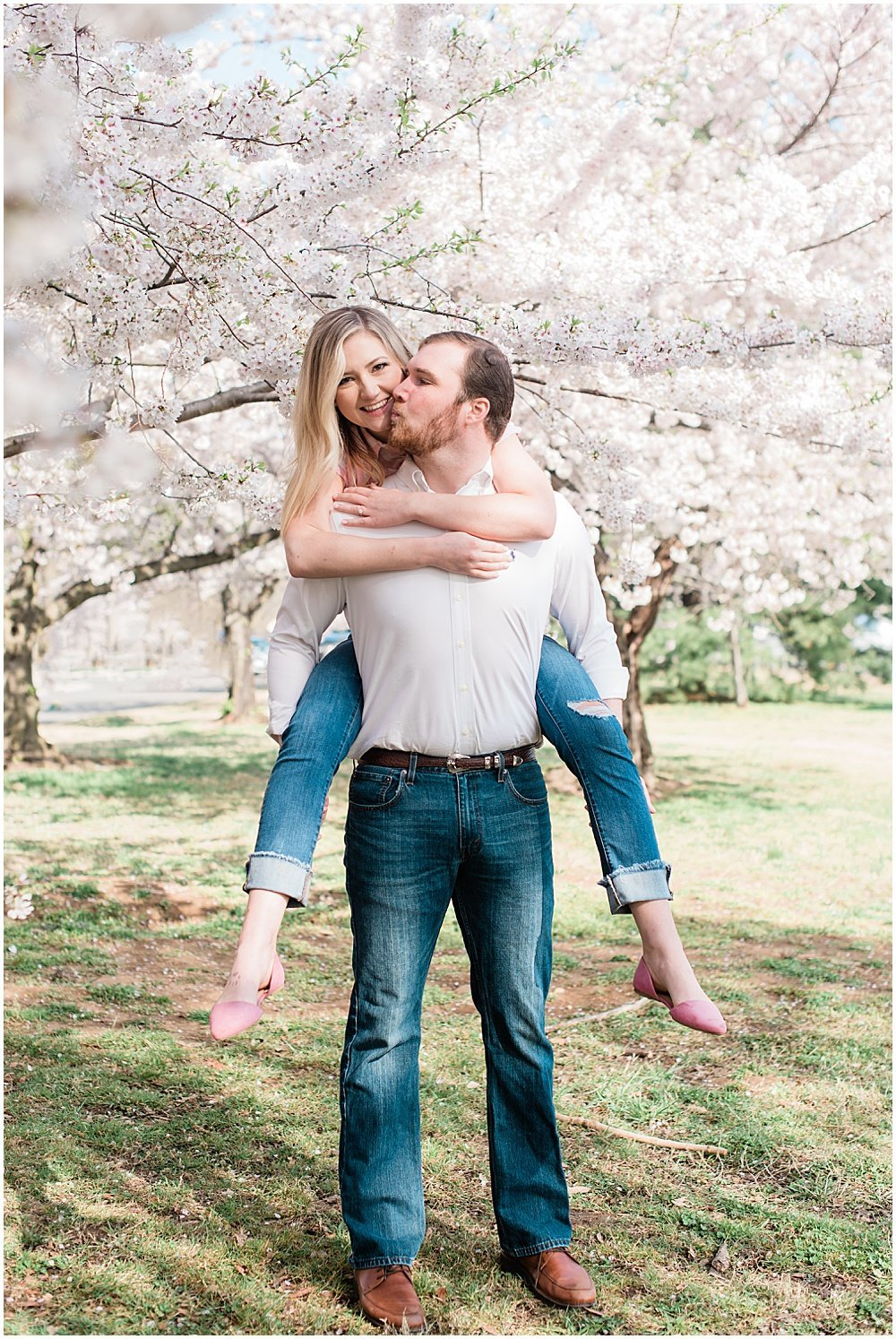 Washington, DC Cherry Blossom Engagement Photos_0002
