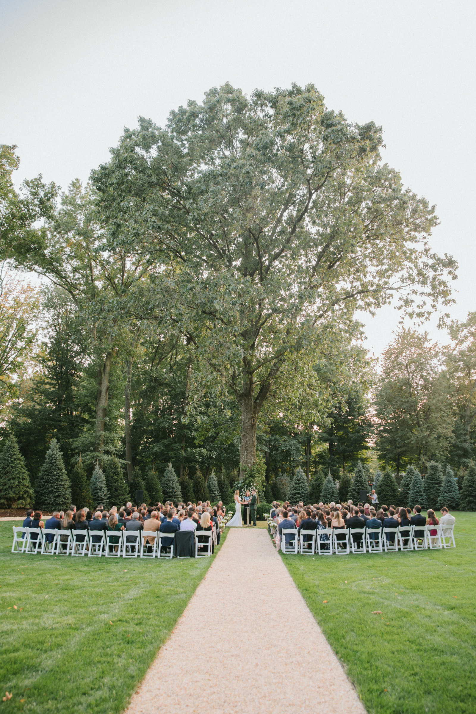 Outdoor Ceremony_Home Tented Wedding_Boho Wedding_Darien_Connecticut_