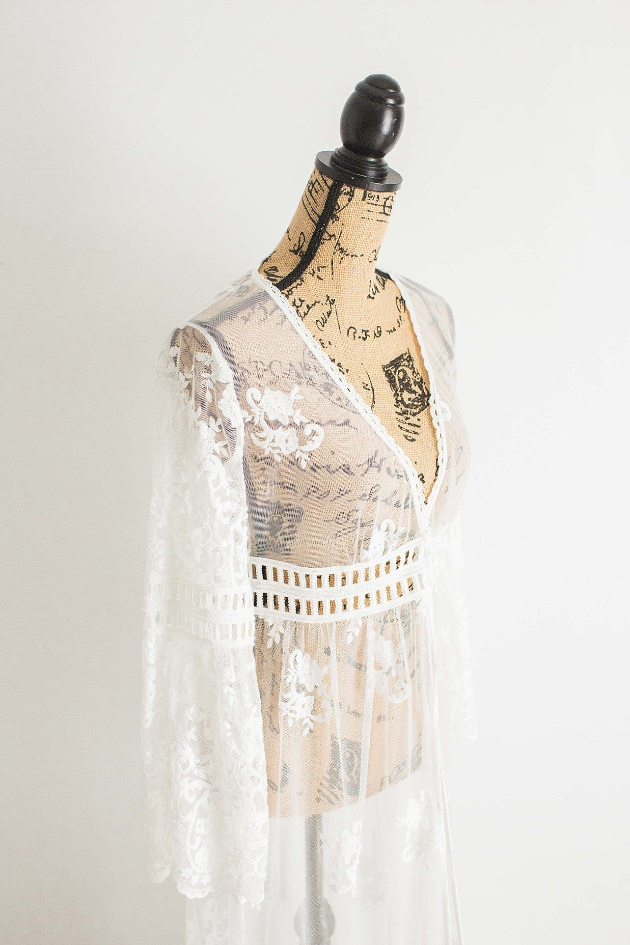 Boho White Duster Lingerie Gown Yours Truly Portraiture-3